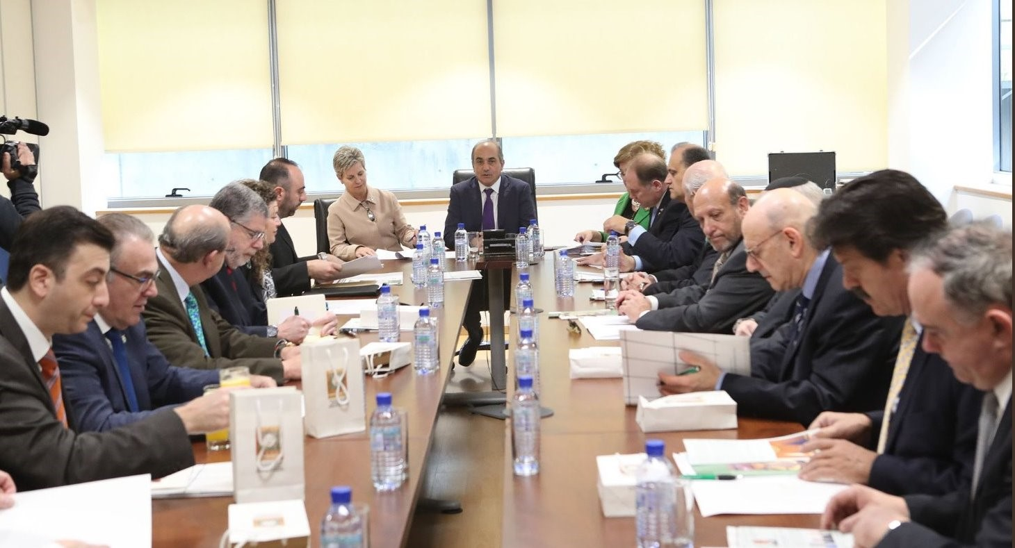 President of the House of Representatives Demetris Syllouris meets with the delegation.