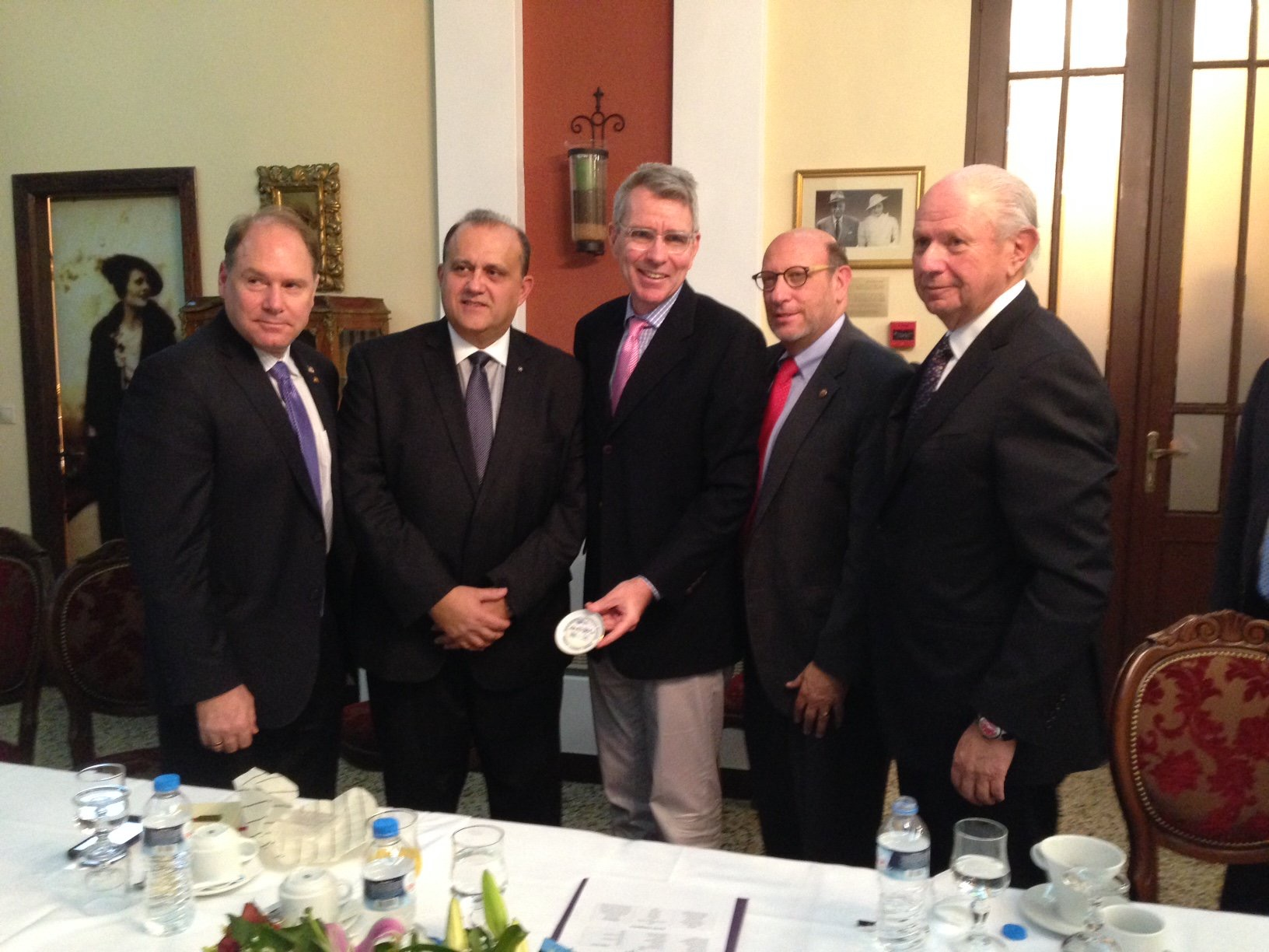 Delegation heads with U.S. Ambassador to Greece, Geoffrey Pyatt.