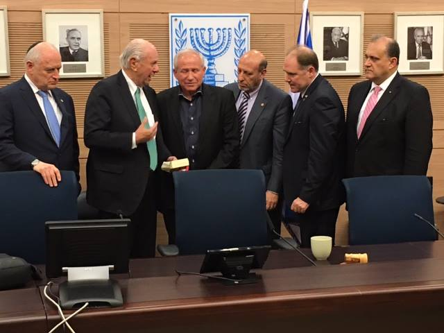 Delegation heads with Member of the Knesset Avi Dicter, Chairman, Foreign Affairs and Defense Committee.