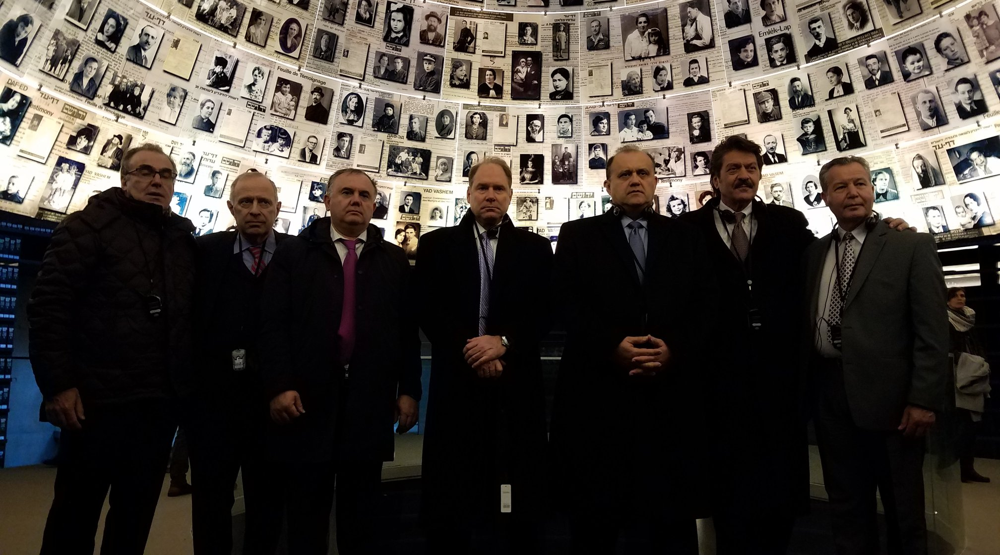 Delegation visits Yad Vashem Holocaust Museum in Jerusalem.