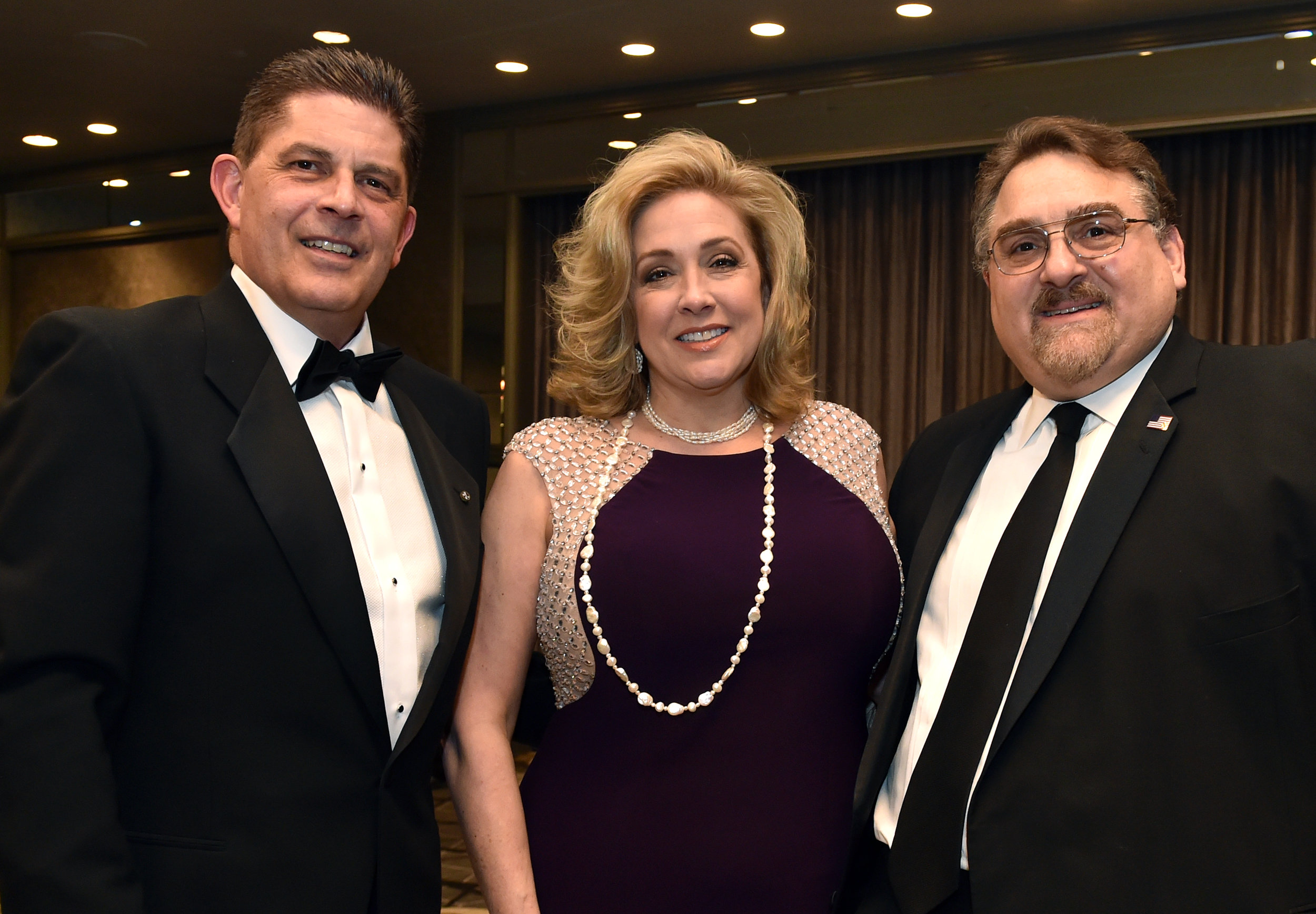 (L-R) Paul Sigotis, Jeannette Zaykowski, Basil Mossaidis, Executive Director, The Order of AHEPA.