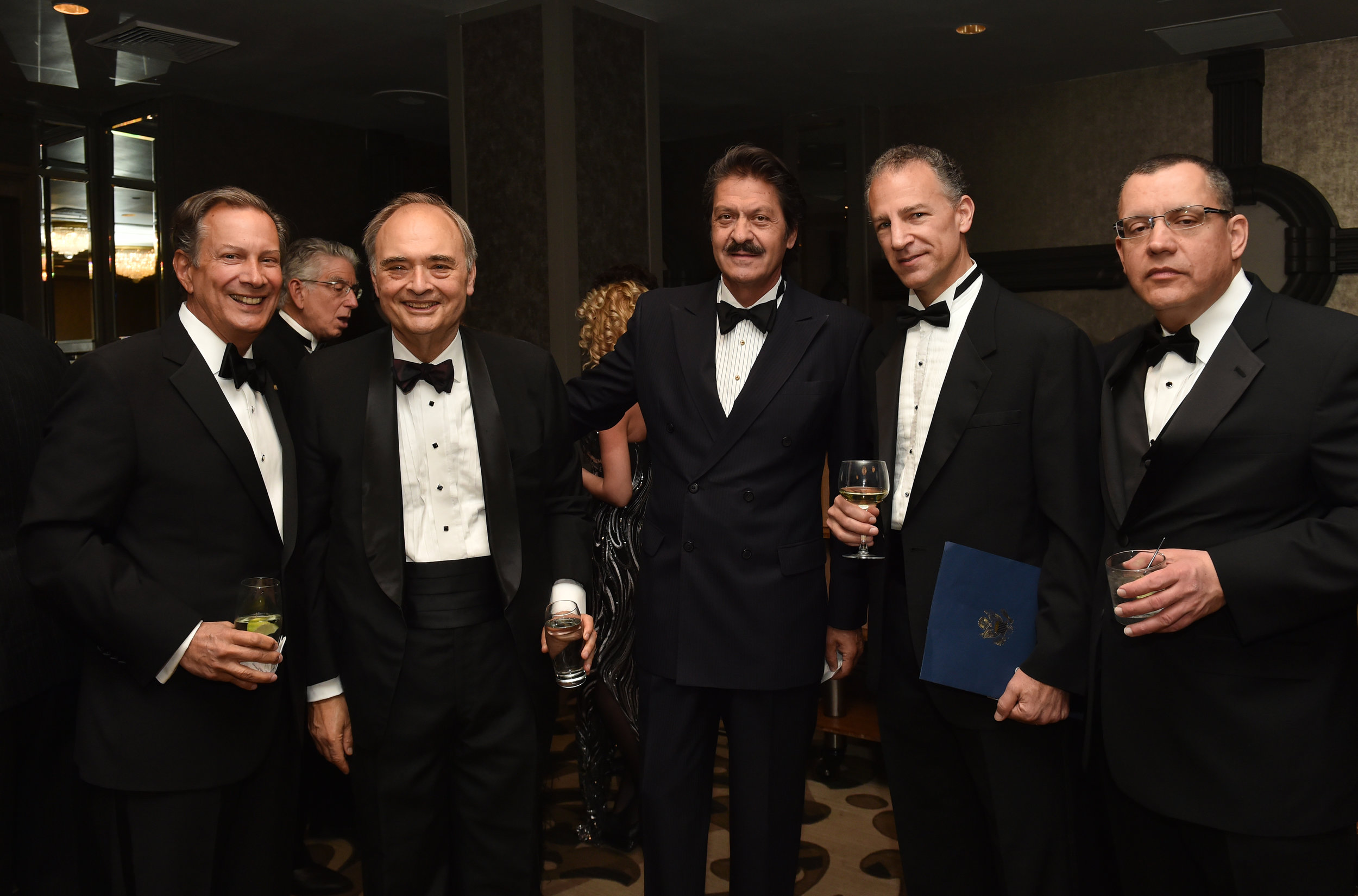 (L-R) AHI Board Member Leon Andris, Manny Rouvelas, Partner, K&L Gates; AHI Board Member Kosta Alexakis, Deputy Assistant Secretary Jonathan Cohen, Constantine Larigakis.