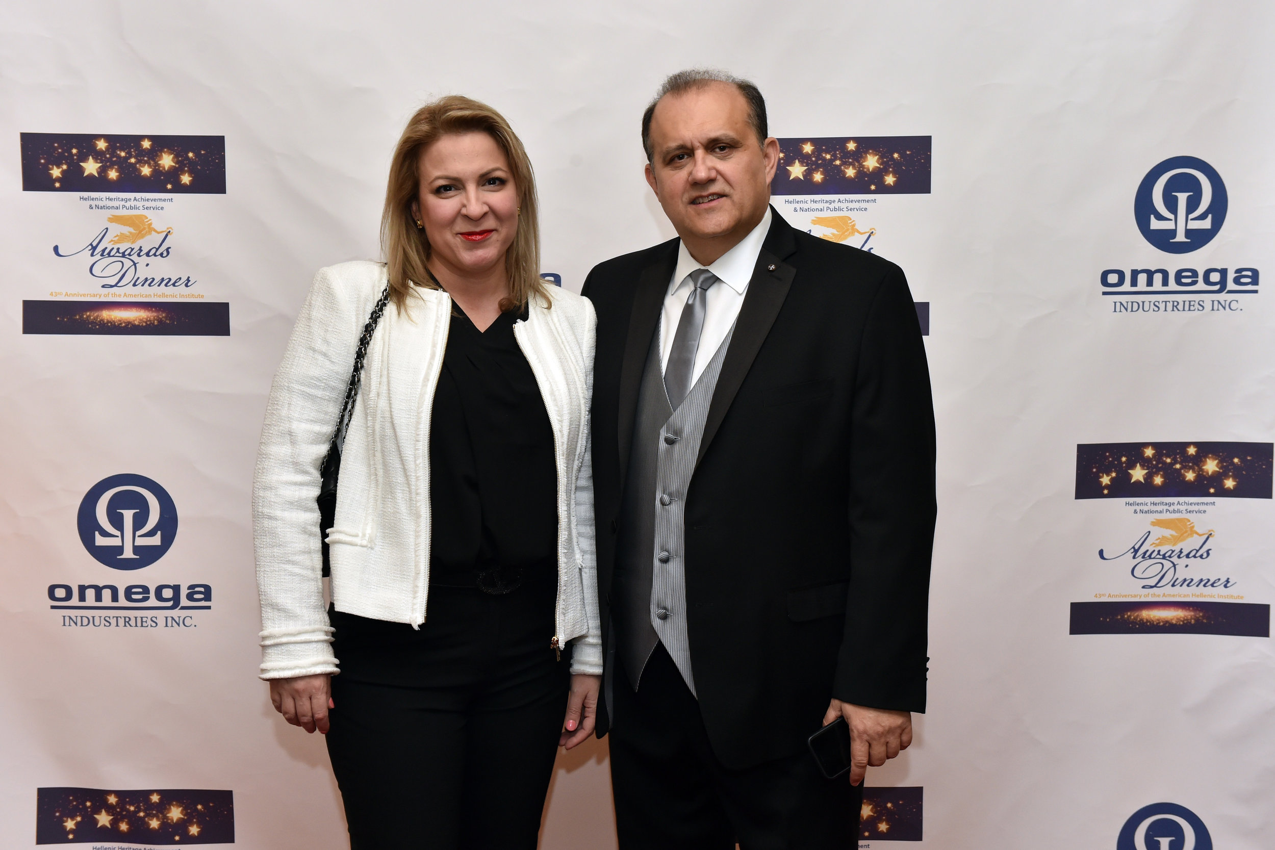 Grigoria Kamaterou, Director, Greek National Tourism Organization and Nick Larigakis.
