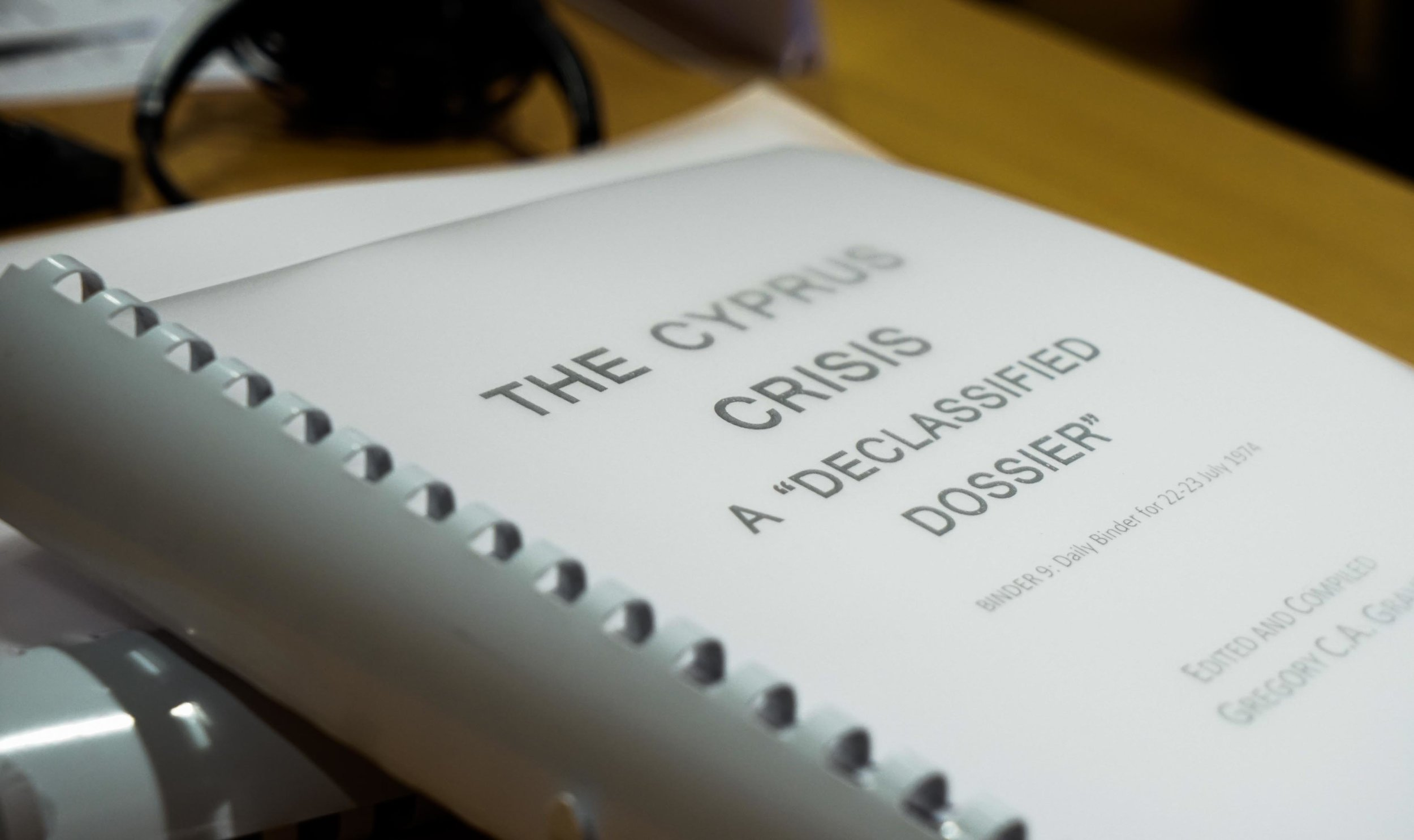 """Copy of """"The Cyprus Crisis: A Declassified Dossier."""""""