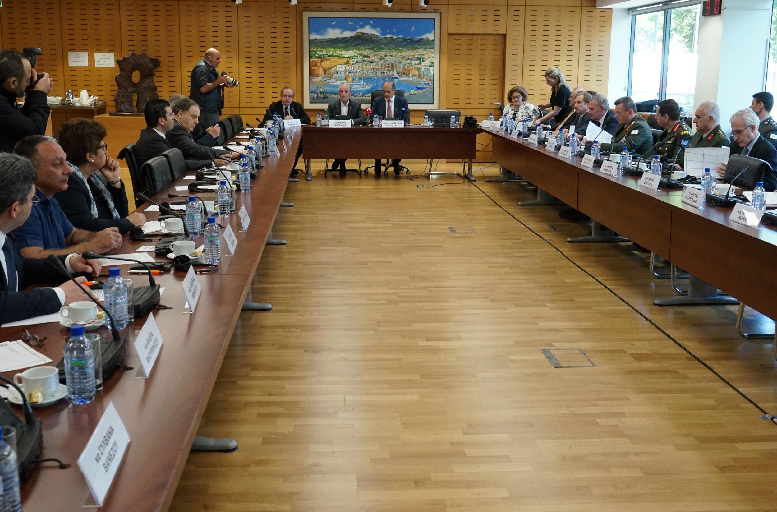 Cypriot House of Representatives President, Demetris Syllouris, hosts AHI for a closed session presentation.
