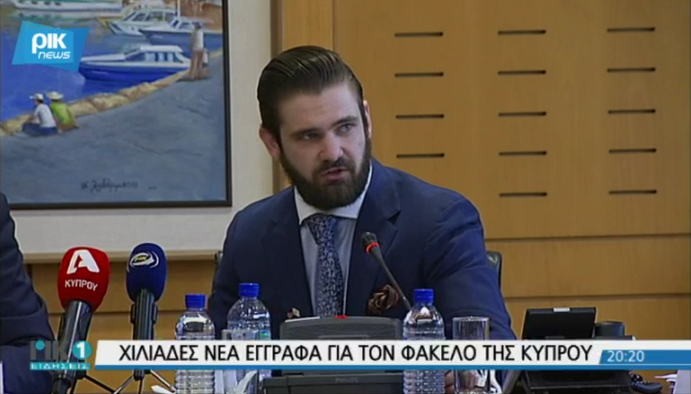 Gregory Graves presents his findings to the Cypriot House of Representatives.