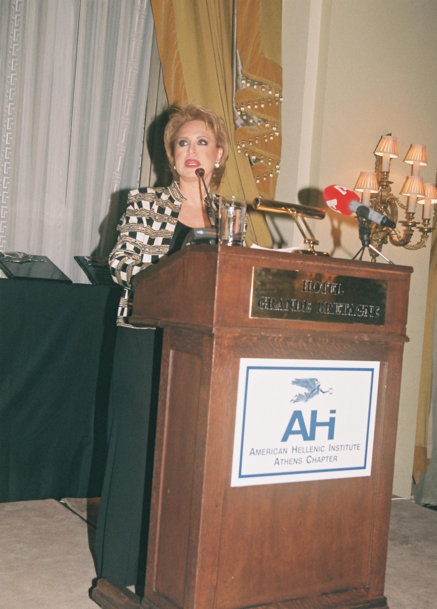 Olga Bournozi, Master of Ceremonies.