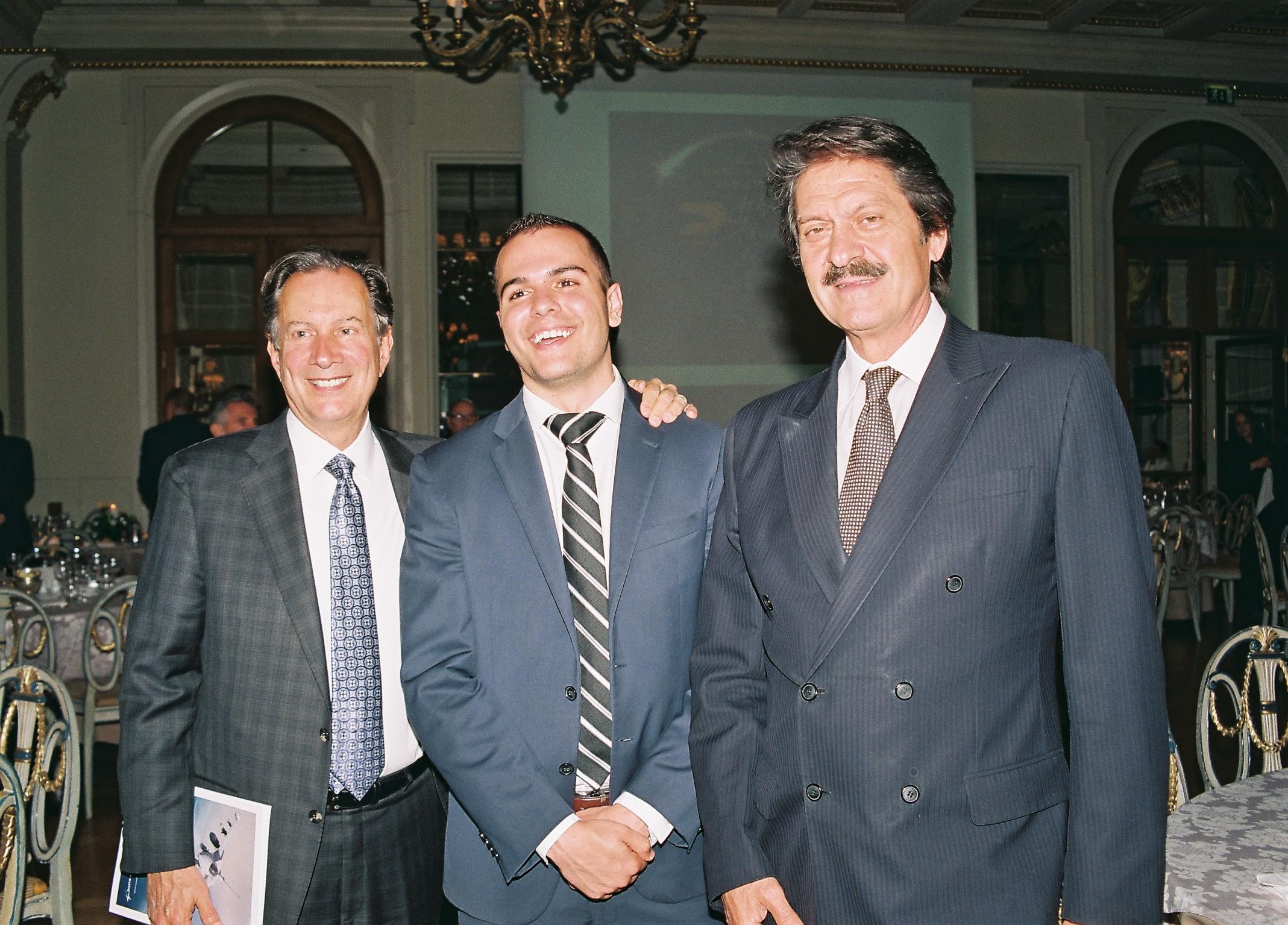 AHI Board Member Leon Andris, AHI Legislative Director Peter Milios, and AHI Board Member Kostas Alexakis.