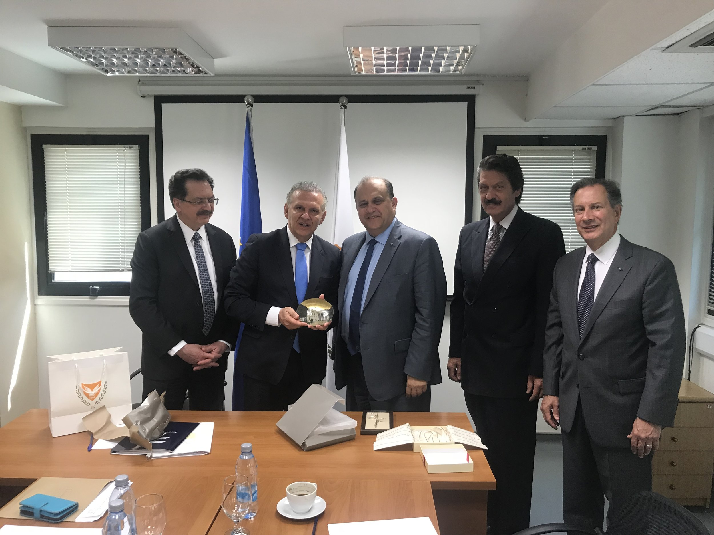 AHI Delegation with Cypriot Presidental Commissioner for Humanitarian Affairs and Overseas Cypriots, Mr. Photis Photiou.
