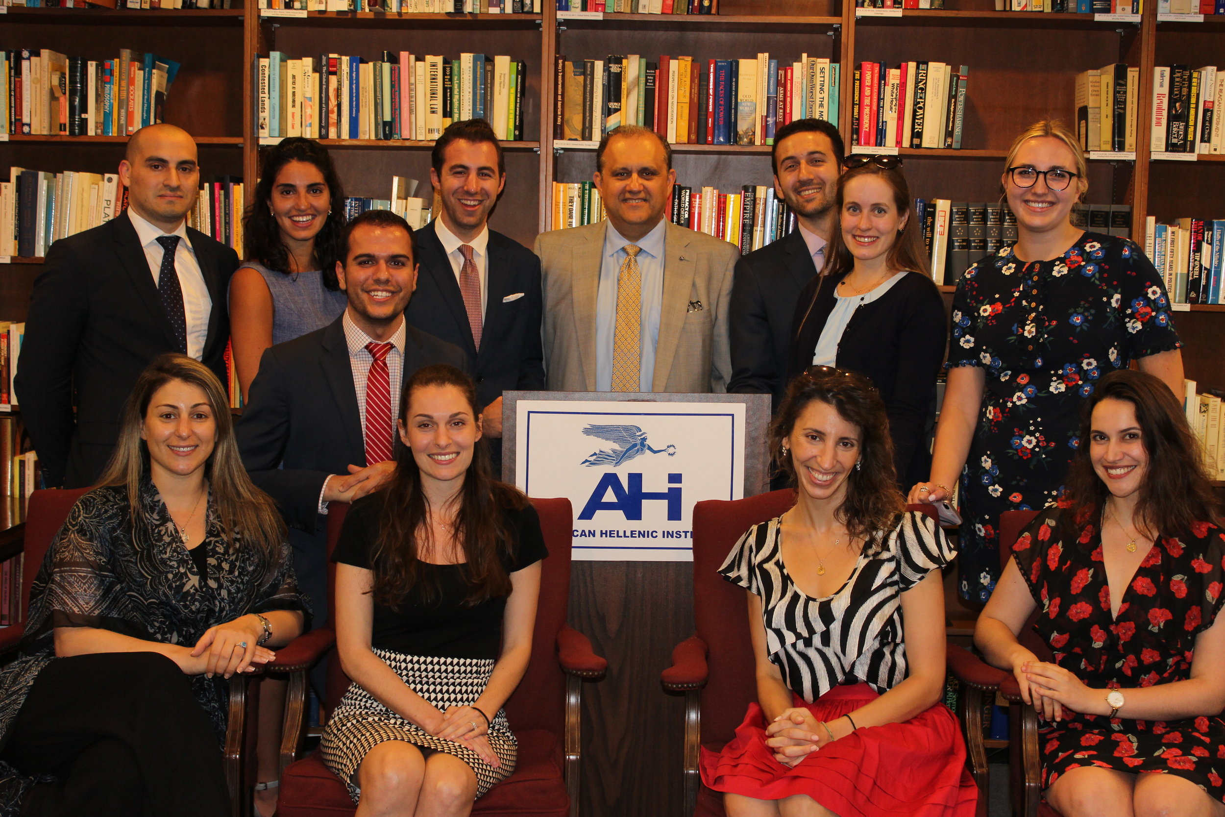Alumni of the AHIF student foreign policy trip gather at the reunion to kick off the tenth annual trip.