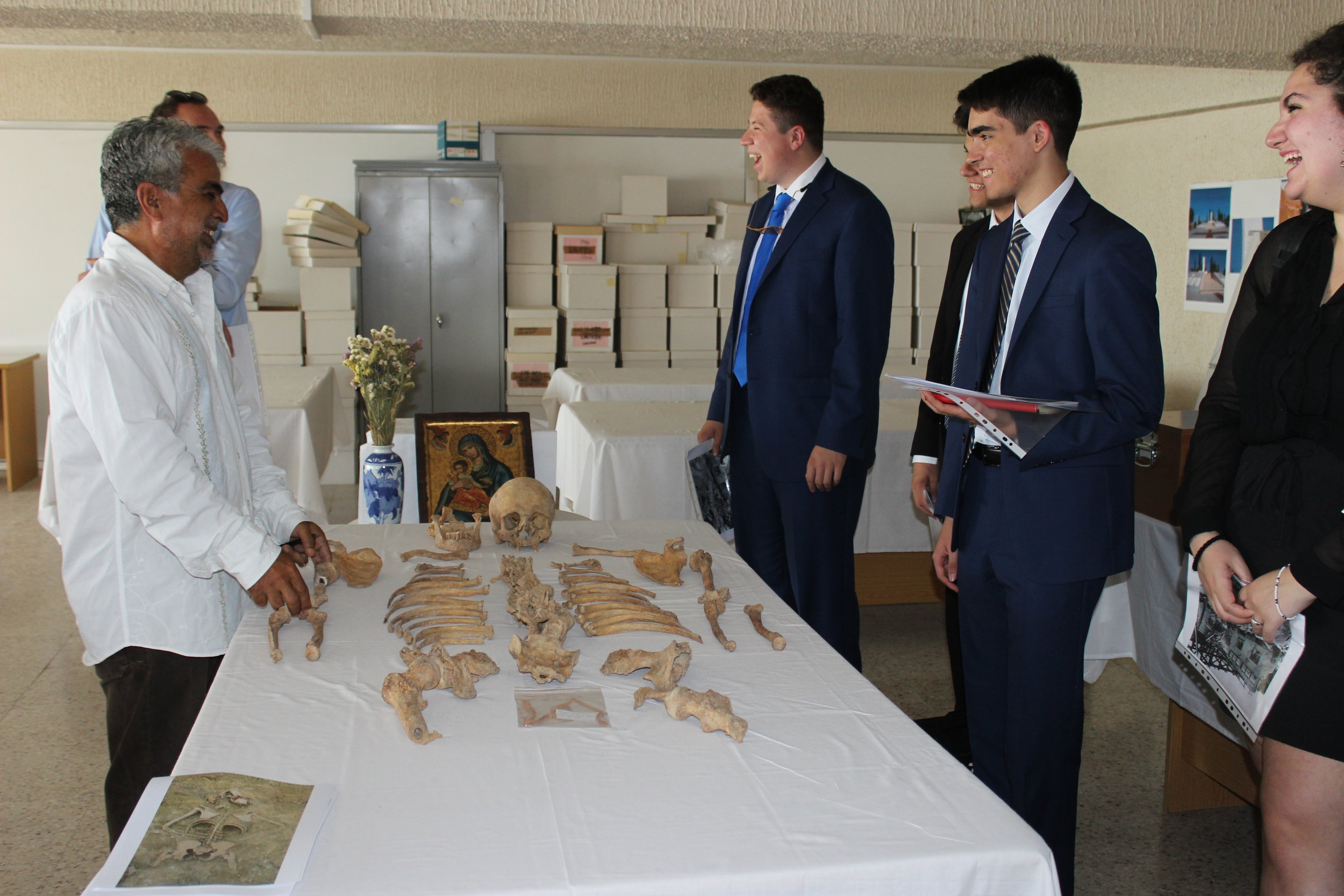 Visit to the Anthropological Laboratory of the Republic of Cyprus with briefing by the Director of the Service for Missing Persons, Mr. Xenophon Kallis.
