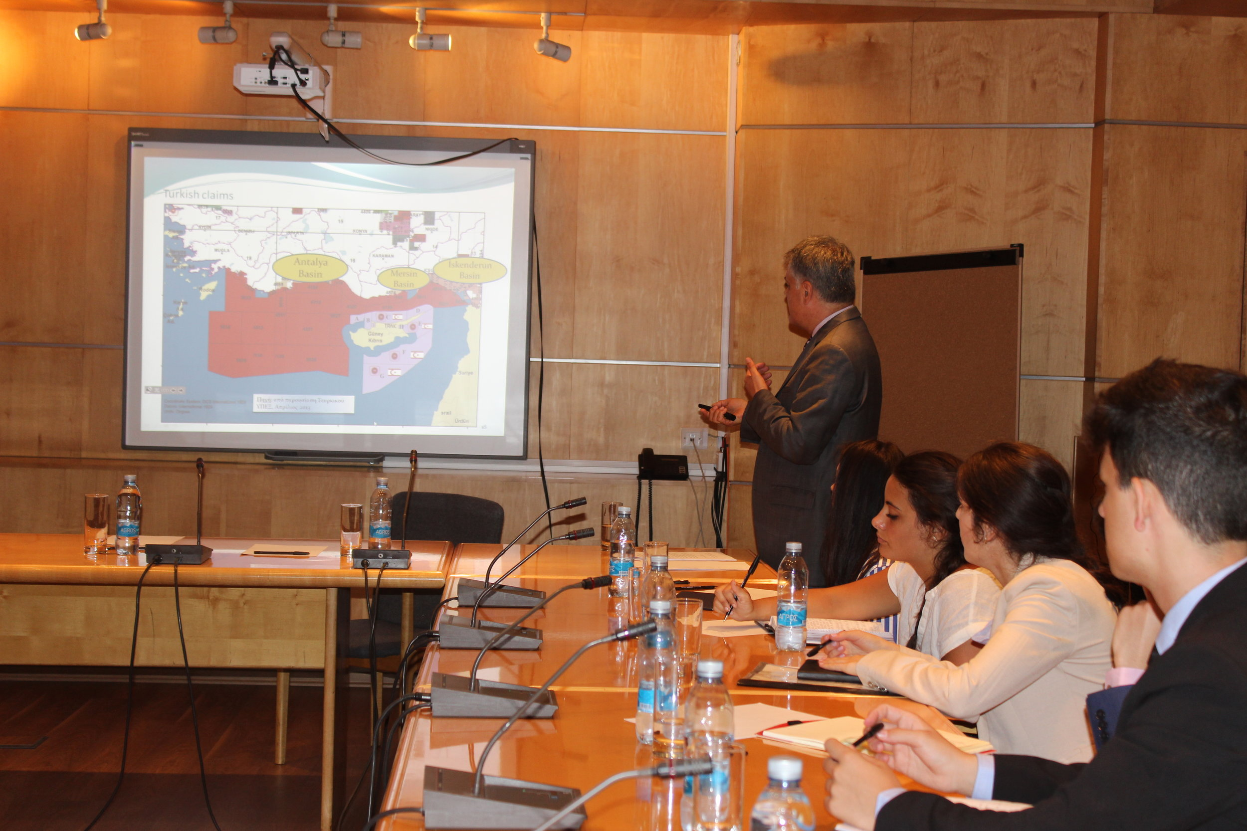 Briefing by Director of Energy and Marine Policy Directorate, Amb. Giorgos Zodiatis