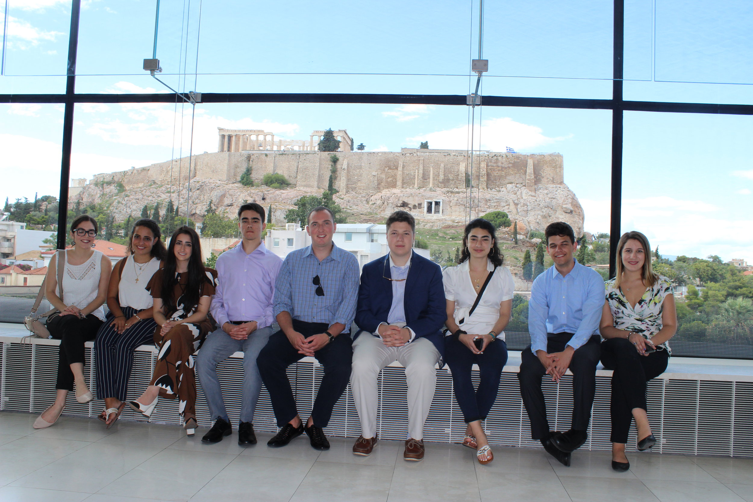 Students visit the Acropolis Museum.