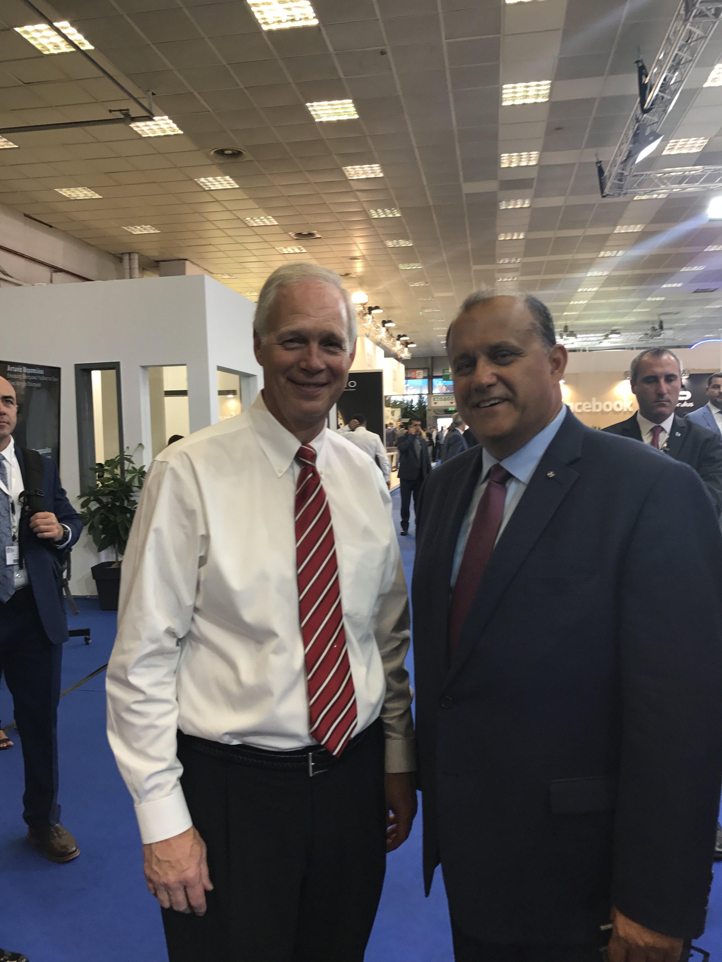 U.S. Senator Ron Johnson (R-WI) and Nick Larigakis.