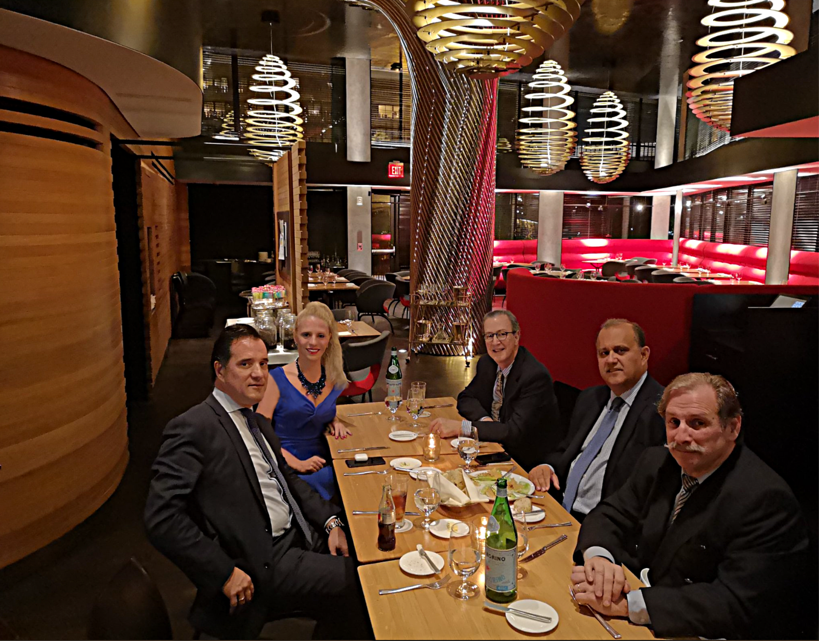 Mr. Georgiadis (lower left) with members of the AHI Board of Directors.