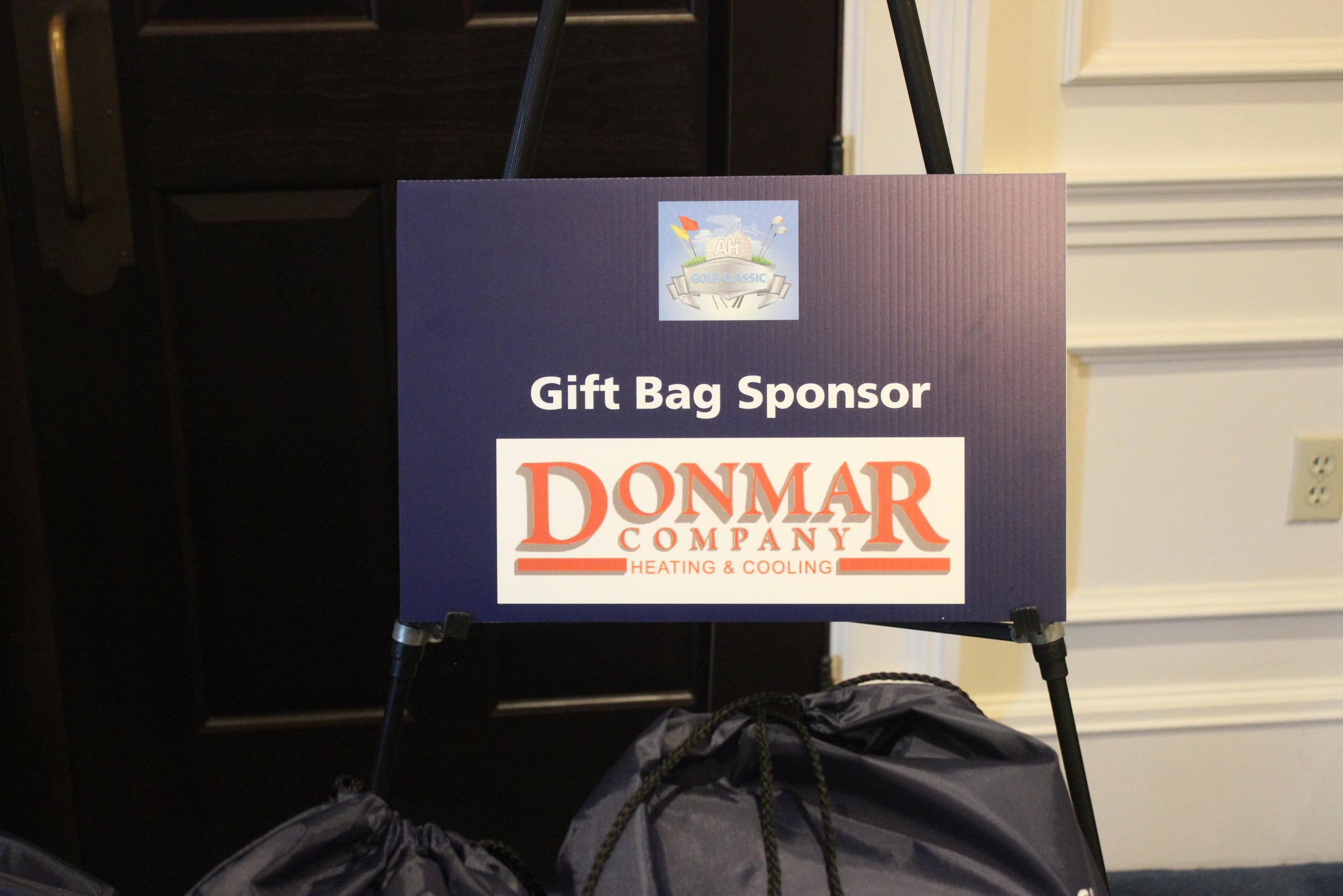 Donmar Heating & Cooling, Gift Bag Sponsor.