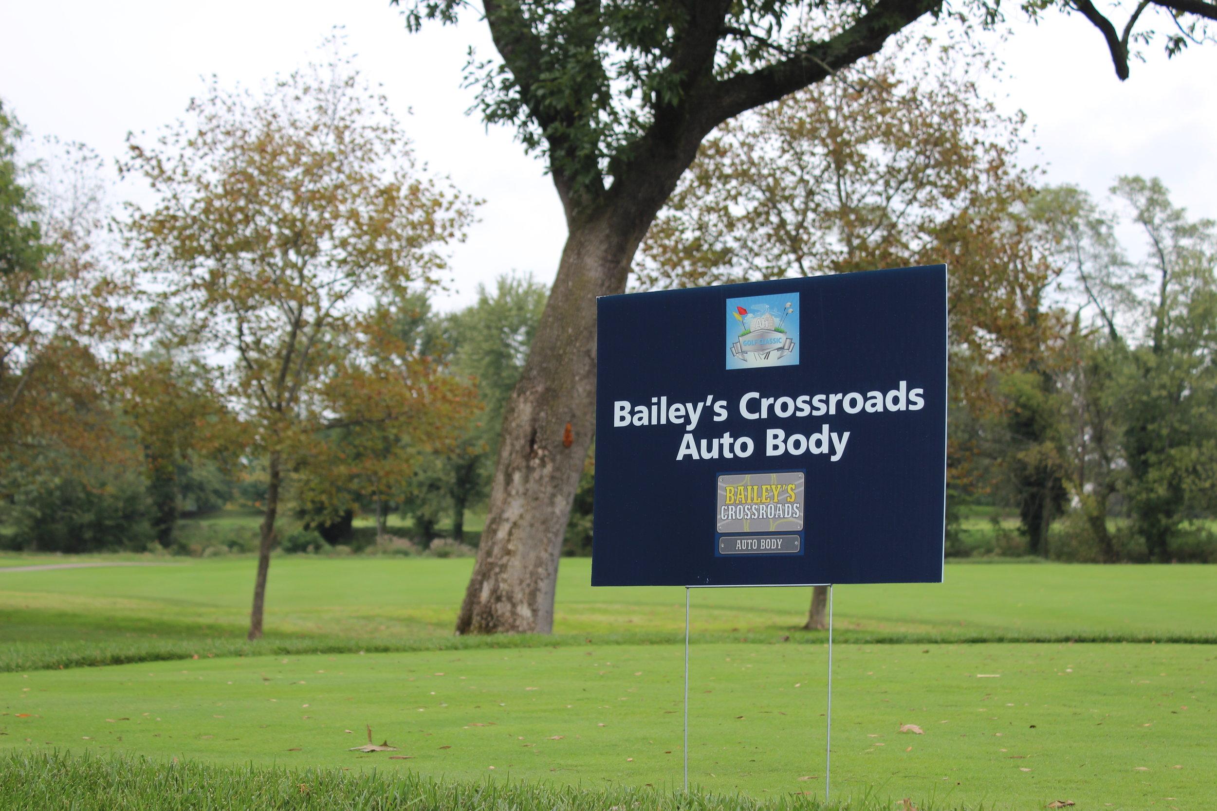Bailey's Crossroads Auto Body, Hole Sponsor.