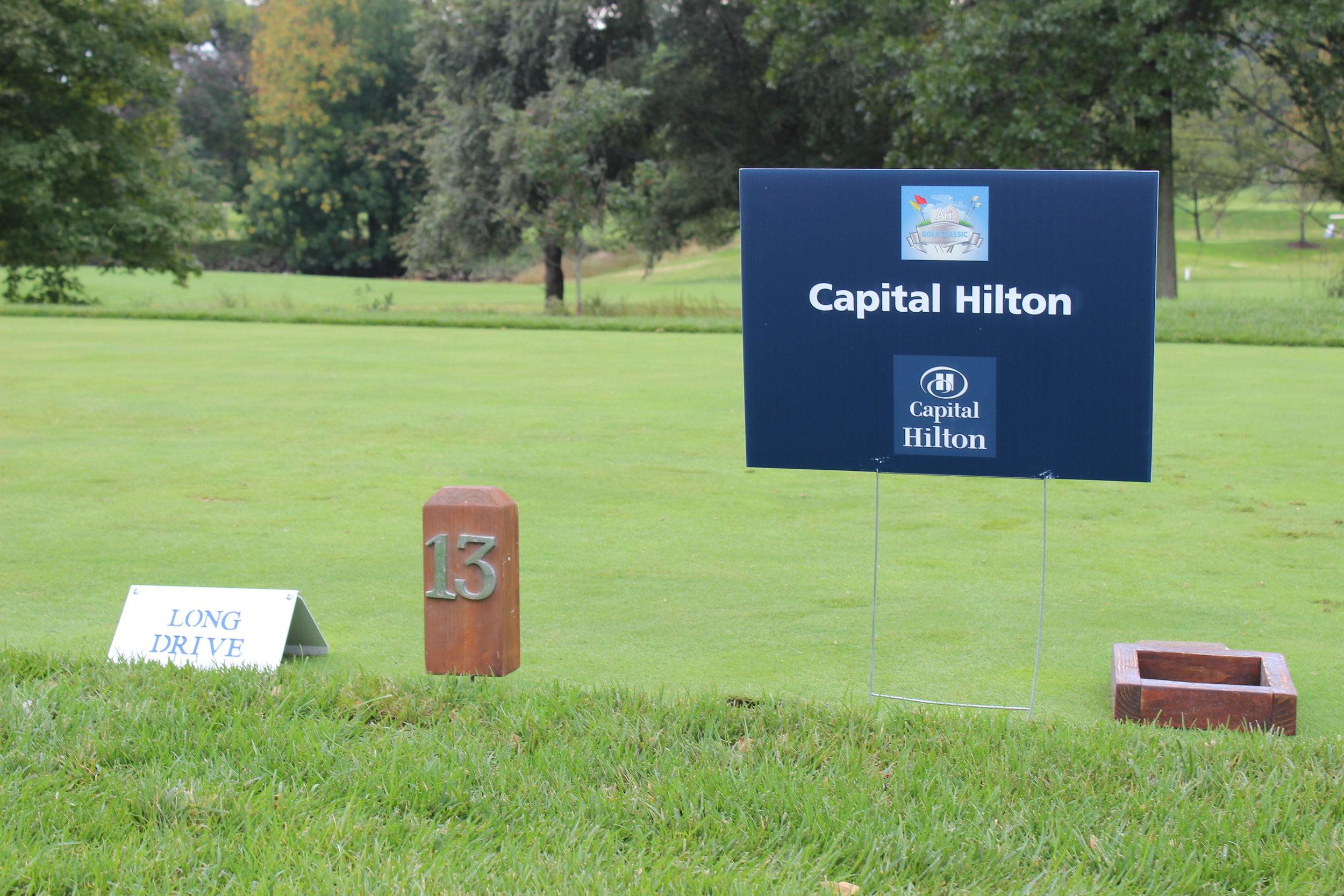 Capital Hilton, Hole Sponsor.