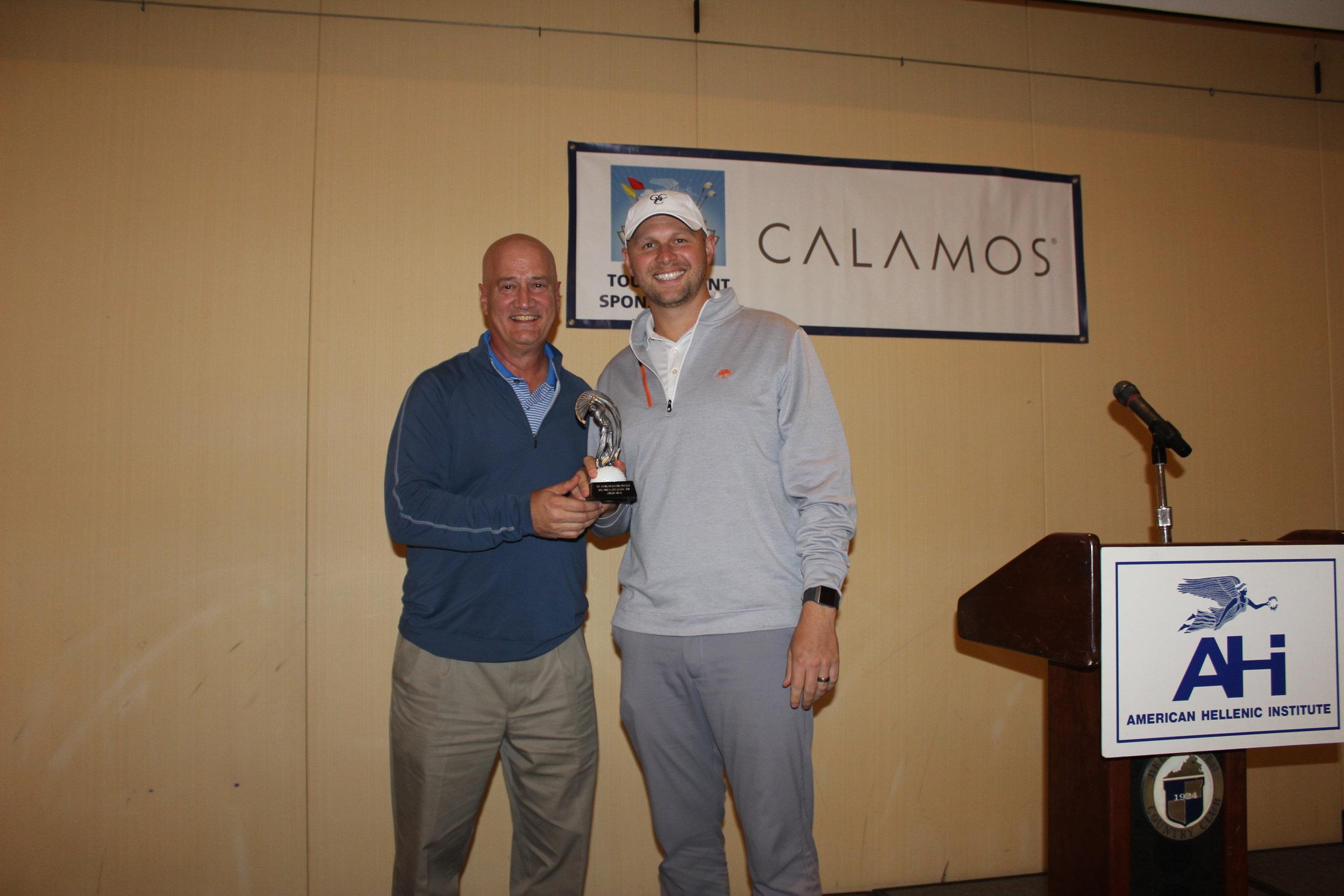 James Tomaseski earns the Longest Drive trophy.