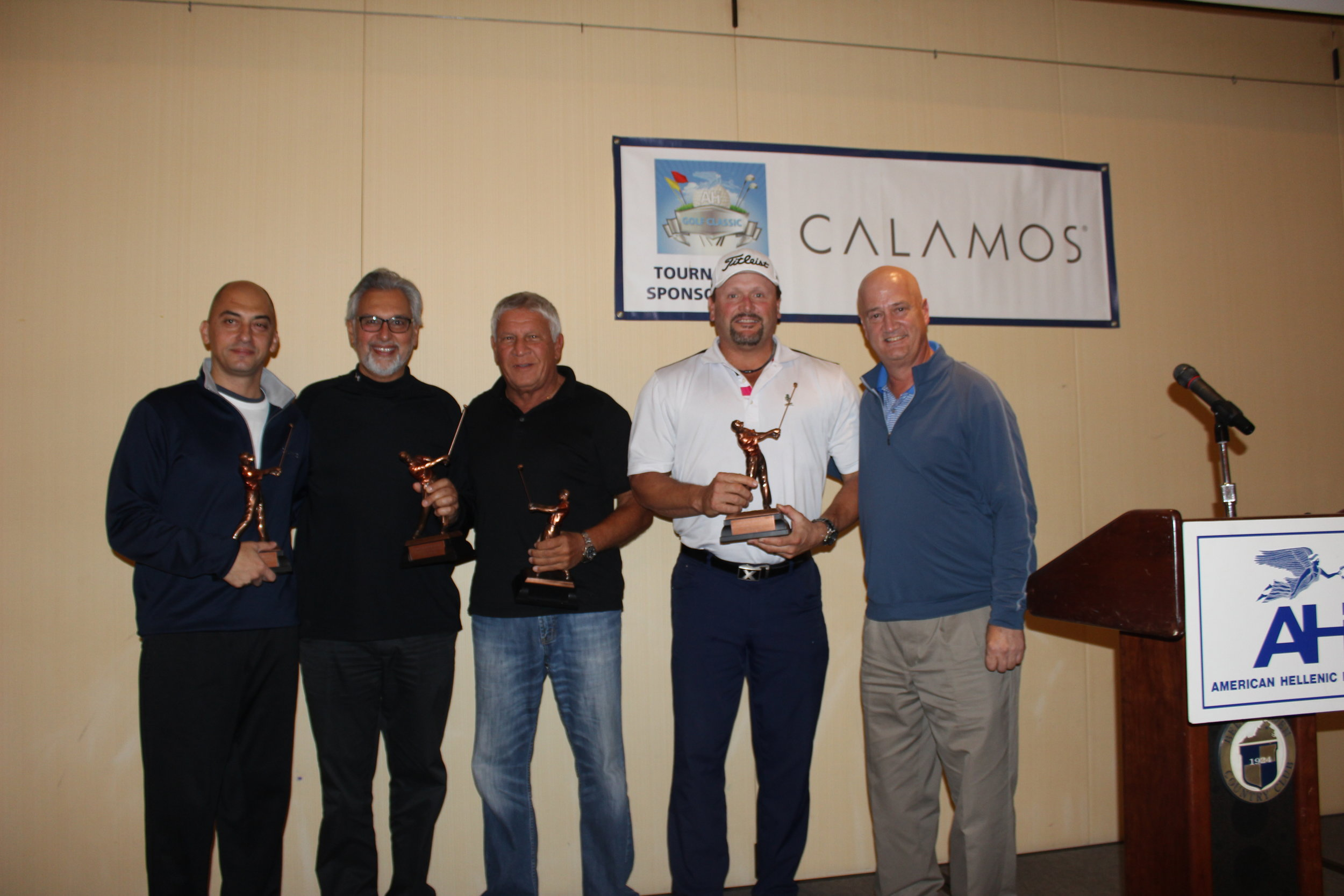 Second Place Team: (L-R) Yanni Sianis, Father Demitri Antokas, Jim Daopoulos, Tommy Greene.