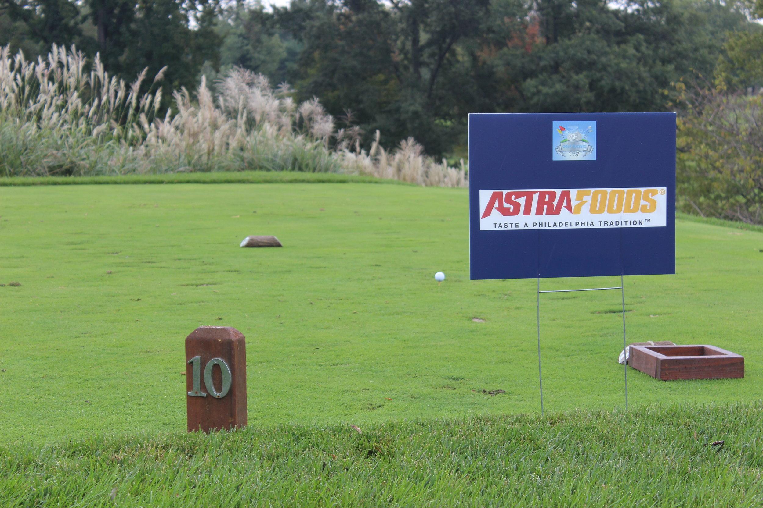 Astra Foods, Hole Sponsor.