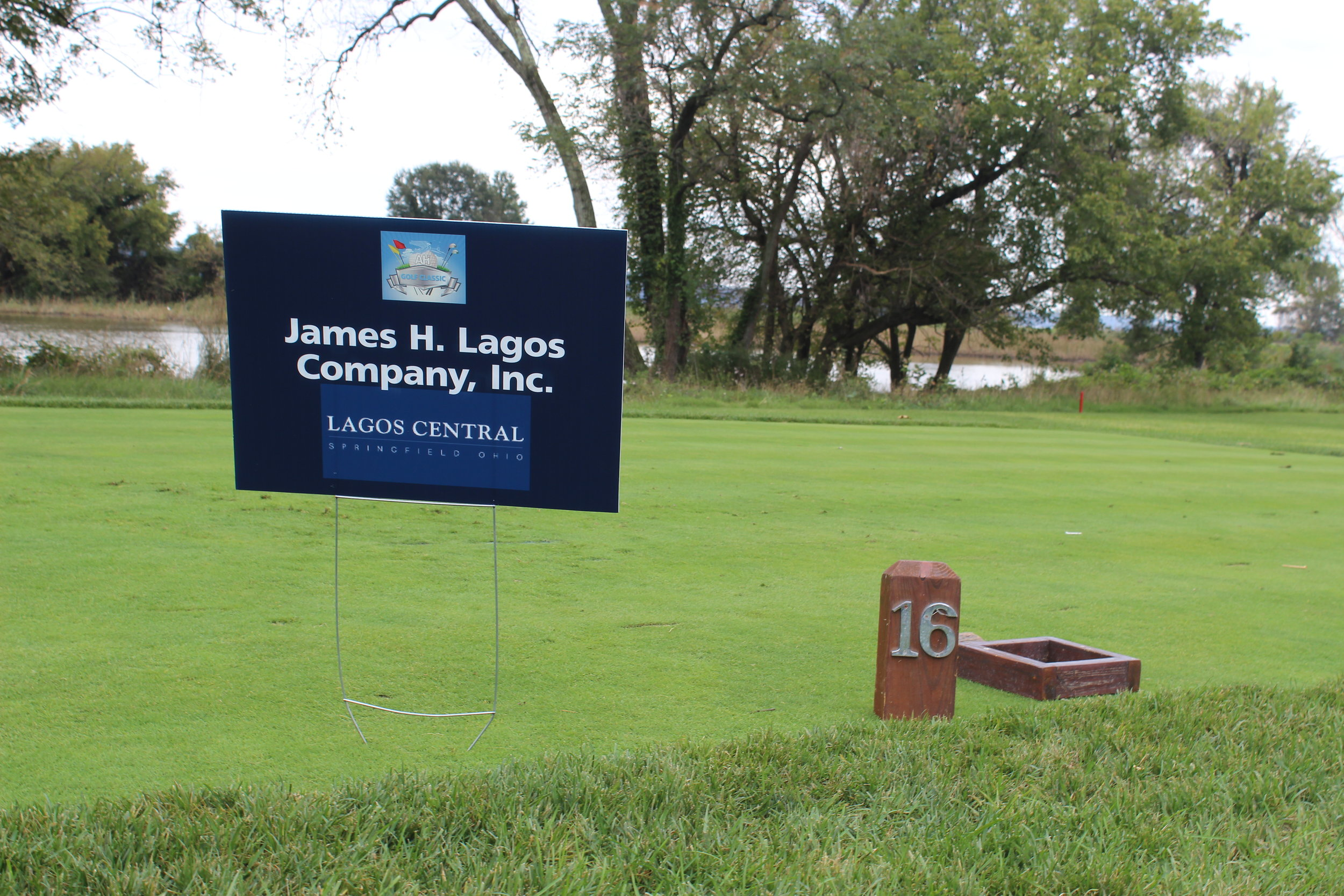 James H. Lagos Company, Inc., Hole Sponsor.