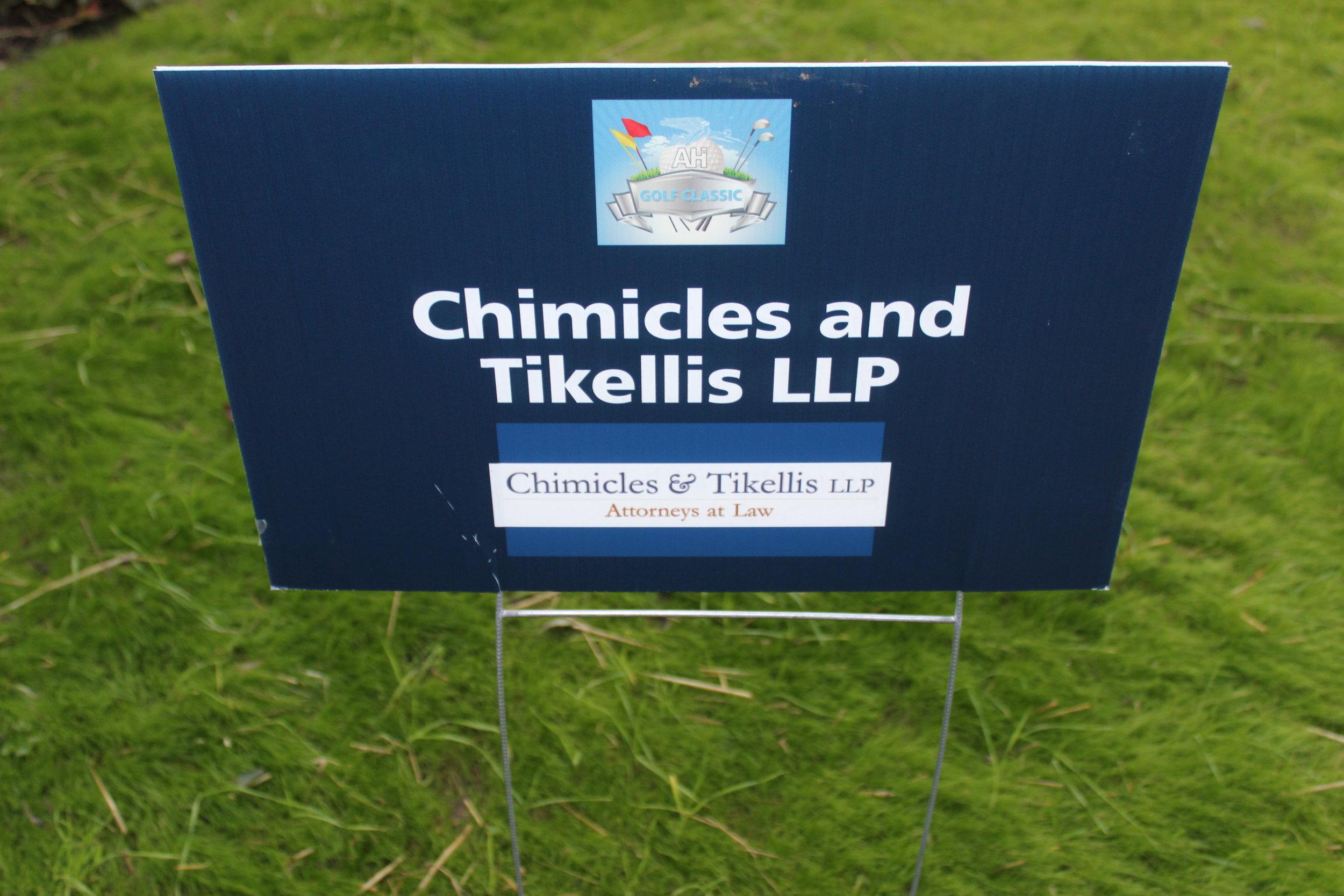 Chimicles & Tikellis LLP, Golf Cart Sponsor.