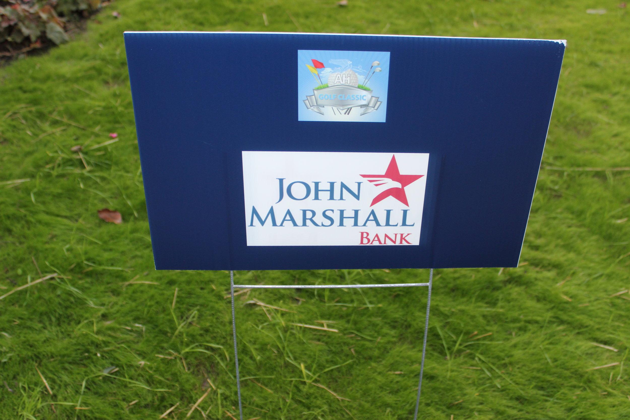 John Marshall Bank, Golf Cart Sponsor.