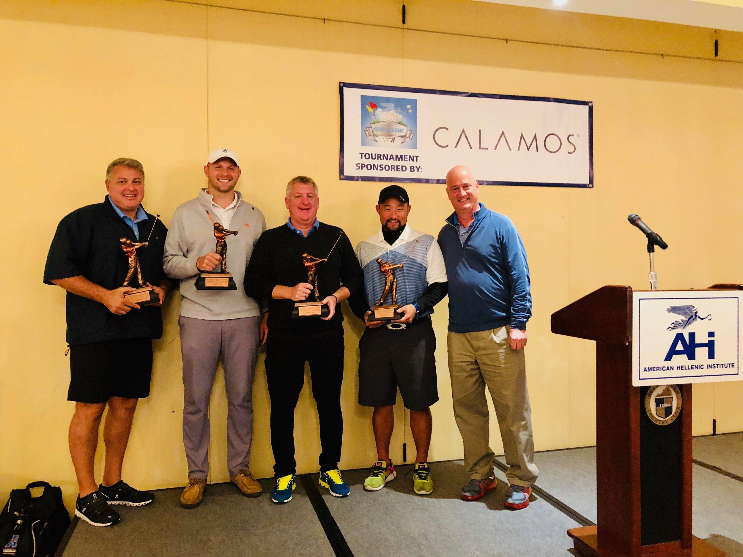 First Place Team: (L-R) Chris Christou, James Tomaseski, Allen Lyubinsky and Ben Kwon.