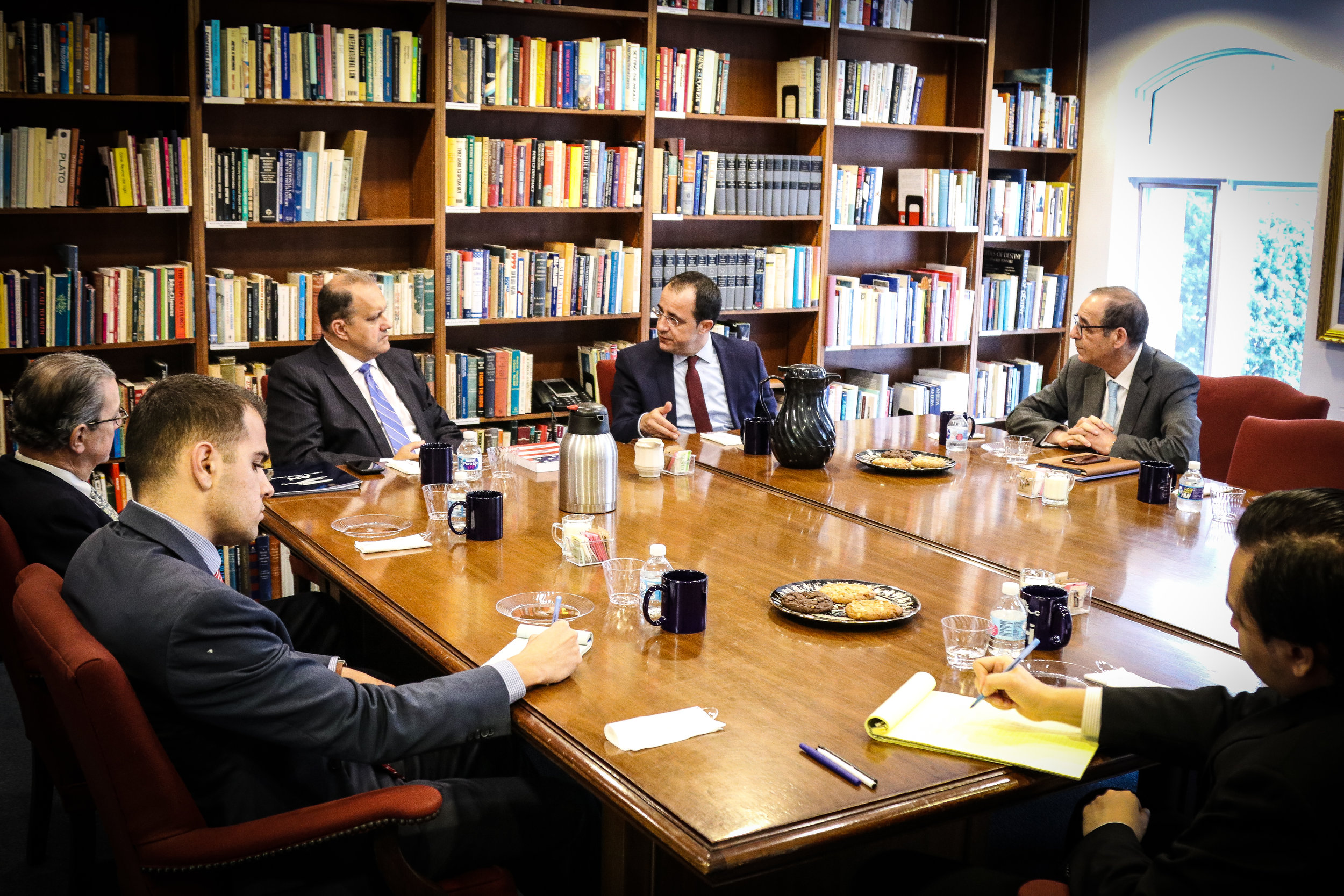 Foreign Minister Christodoulides discusses U.S.-Cyprus relations with AHI.
