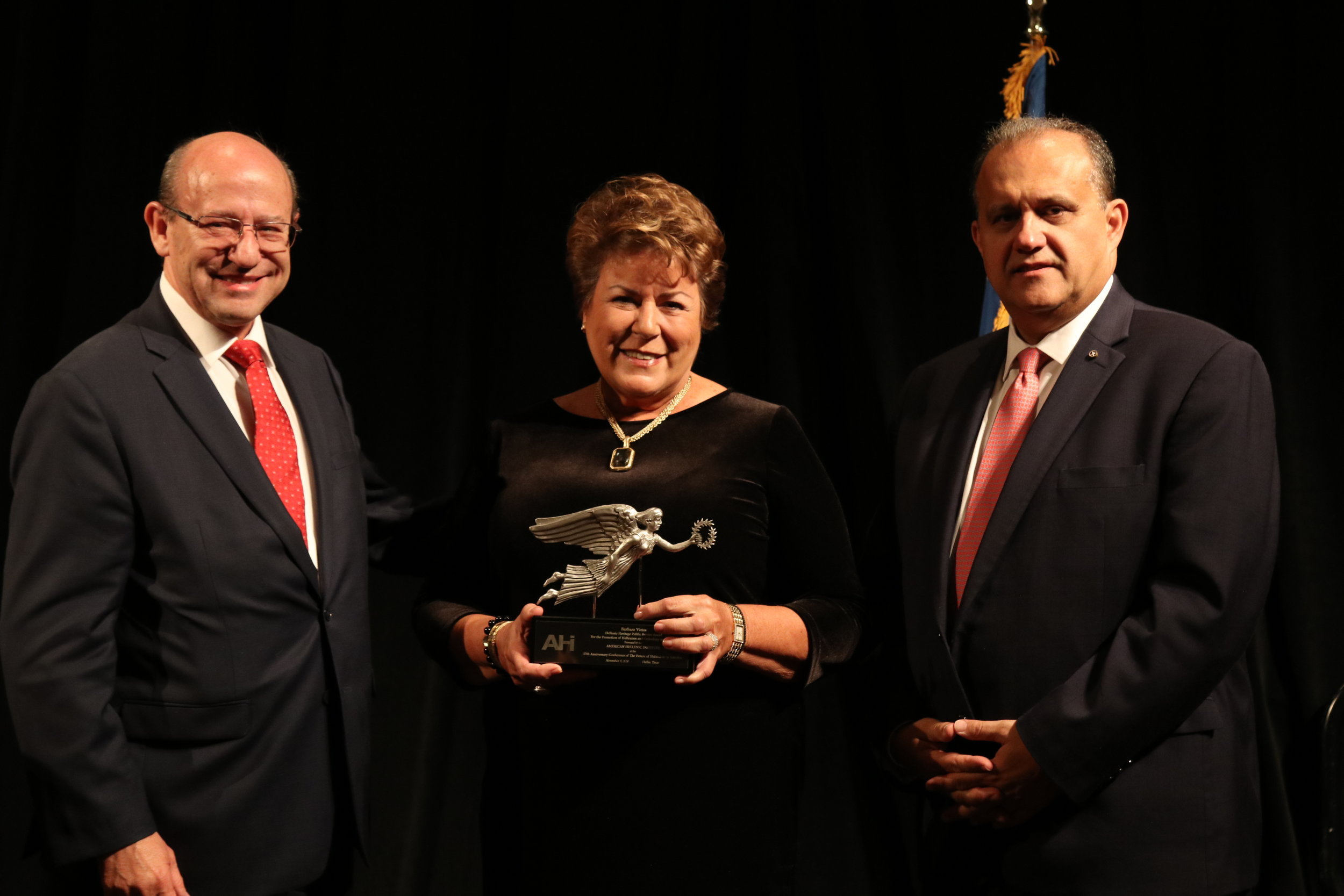 Barbara Vittas receives the AHI Hellenic Heritage Award for the Promotion of Hellenism and Orthodoxy in America.