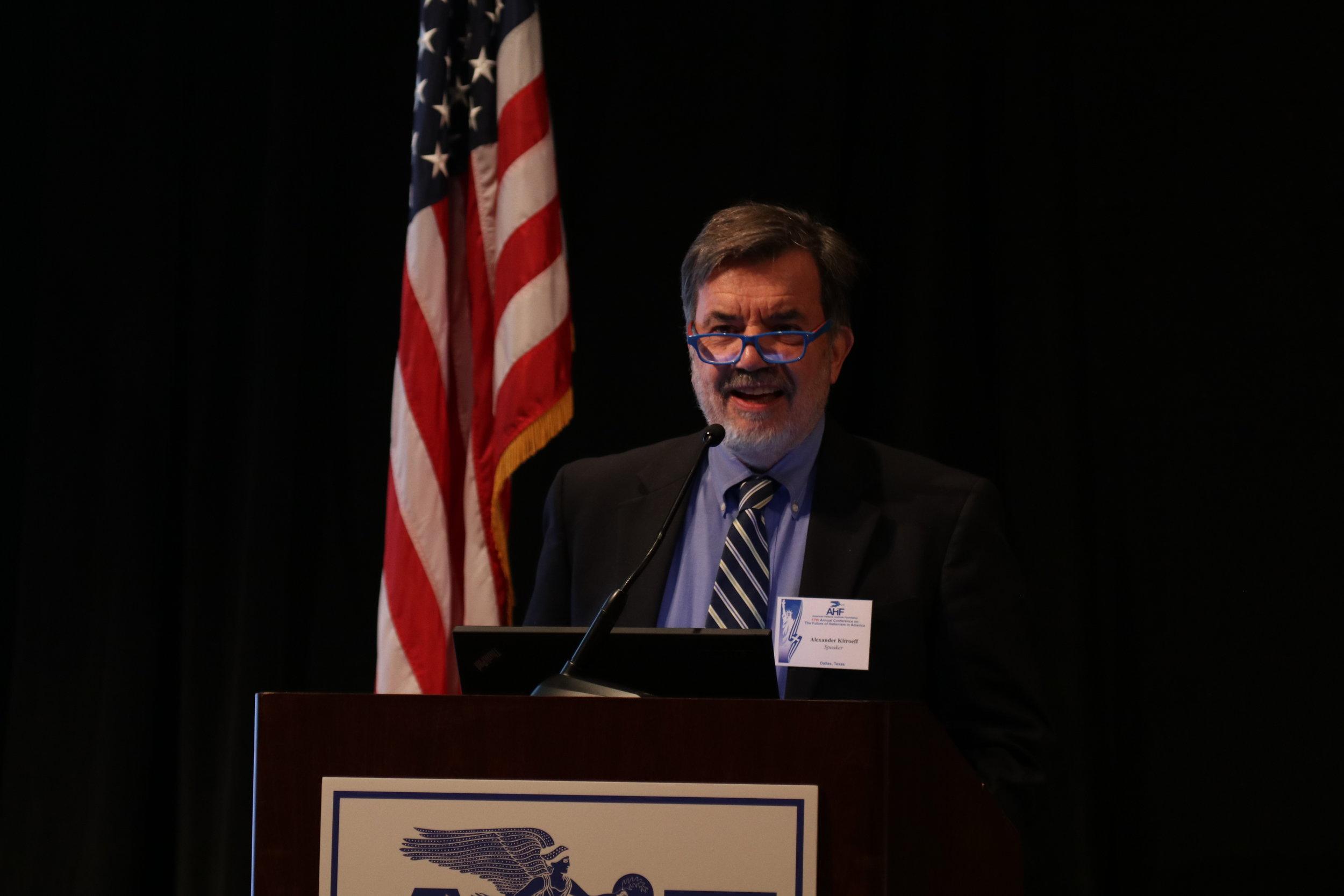 Professor Alexander Kitroeff, associate professor of History, Haverford University.