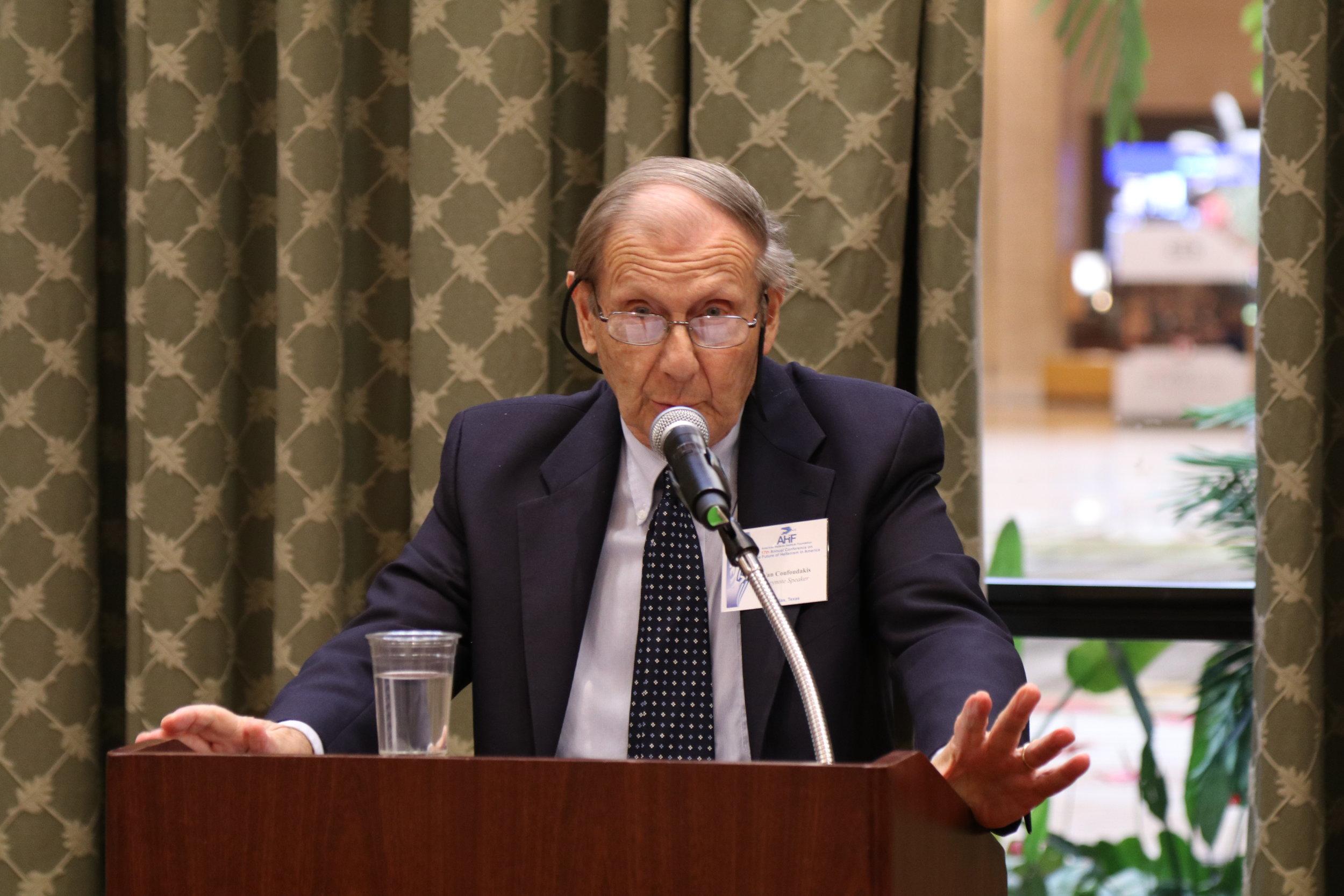 Professor Van Coufoudakis provides the Luncheon Keynote Address.