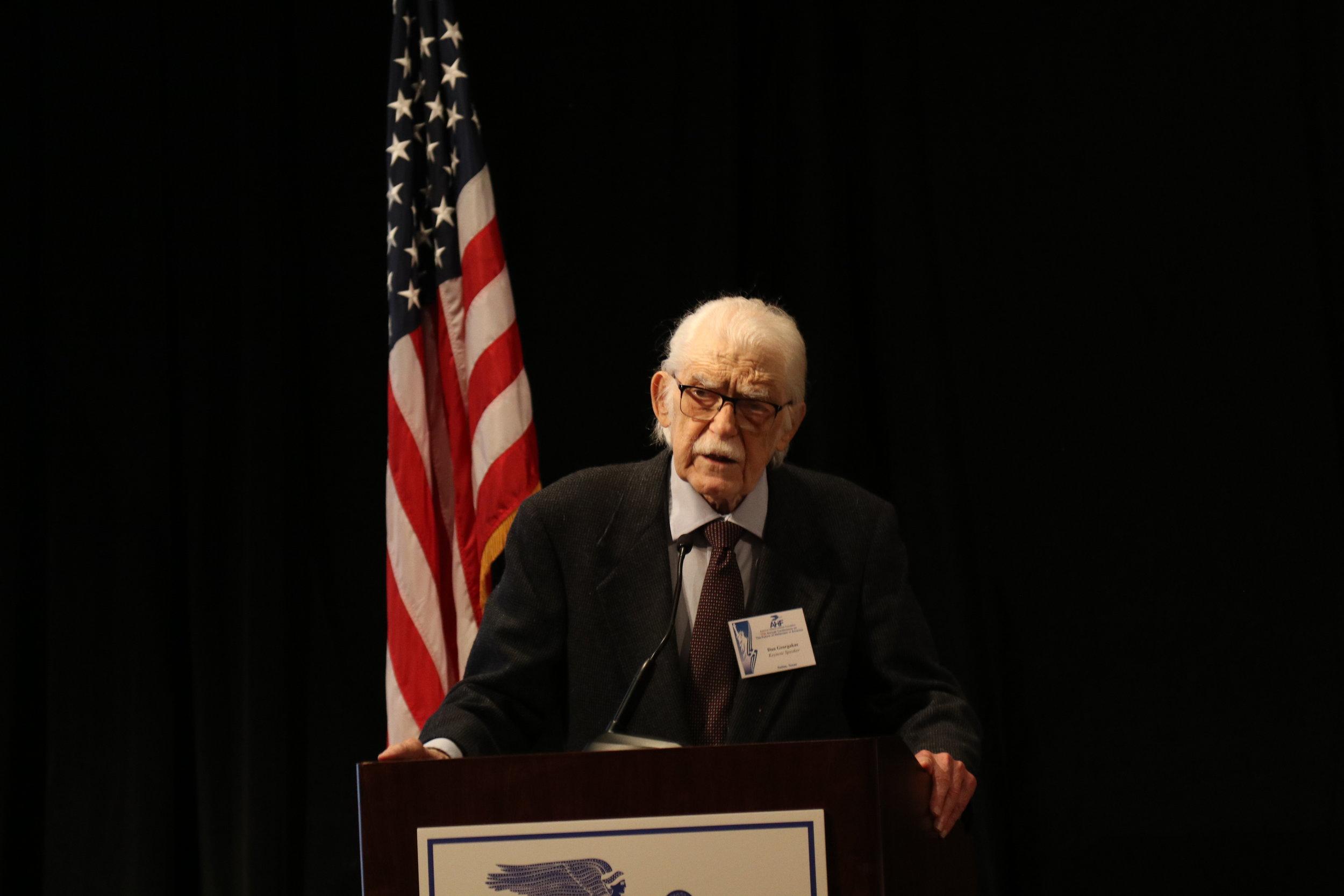 Professor Dan Georgakas provides the Opening Keynote address.