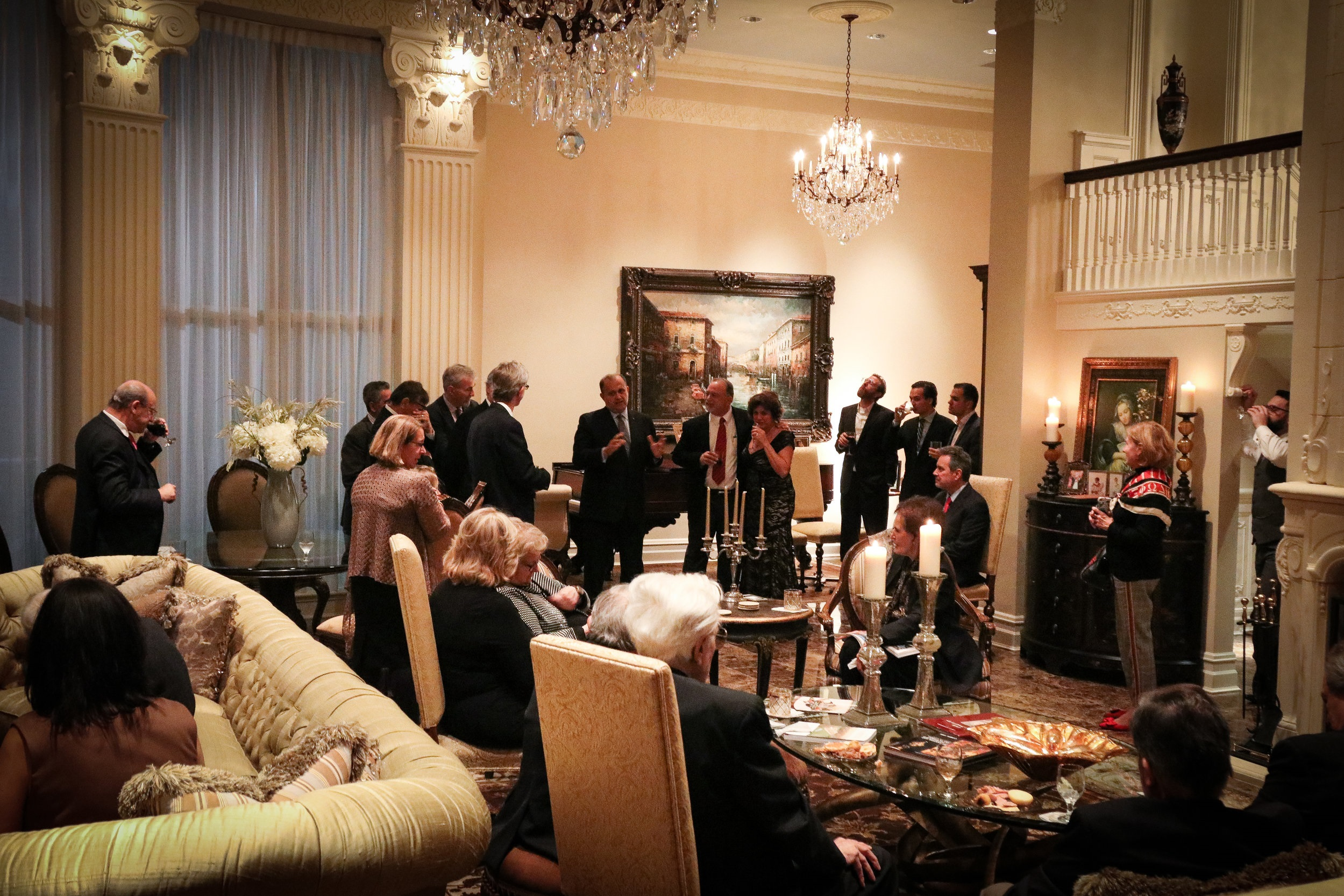 Paun and Magdaline Peters host a reception for AHI at their residence in Forth Worth, Texas.