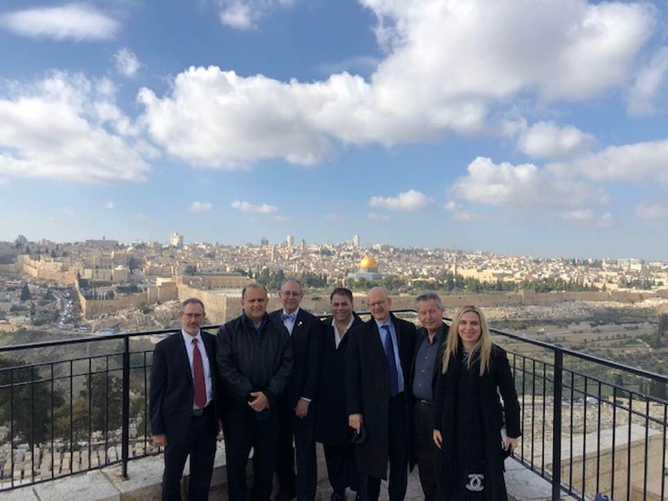 Members of AHEPA, AHI, & B'nai B'rith International; Jerusalem In The Background