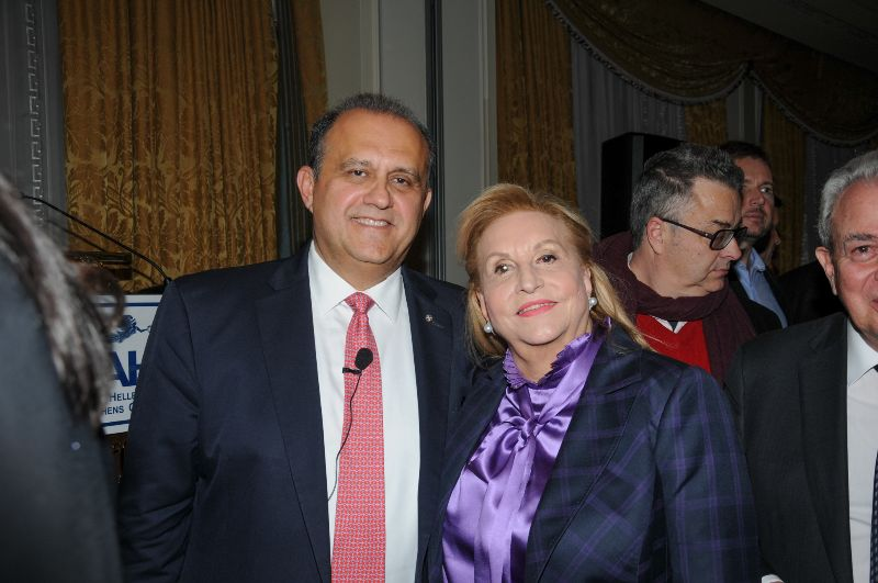President Larigakis WithFani Palli-Petralia, Former New Democracy MP & Former Minister of Tourism