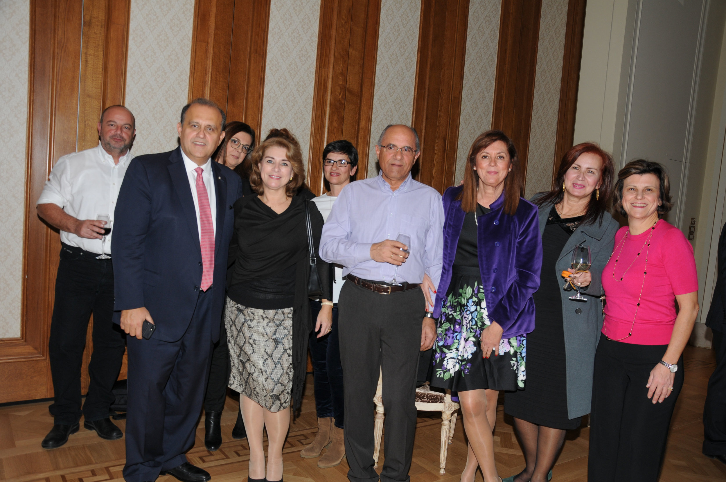 President Larigakis With Guests At The Reception