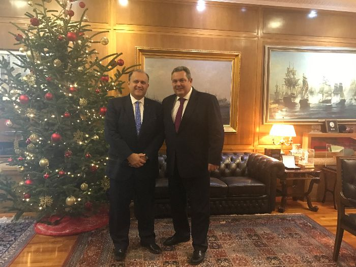 President Larigakis With Greece's Minister Of National Defence, Panos Kammenos