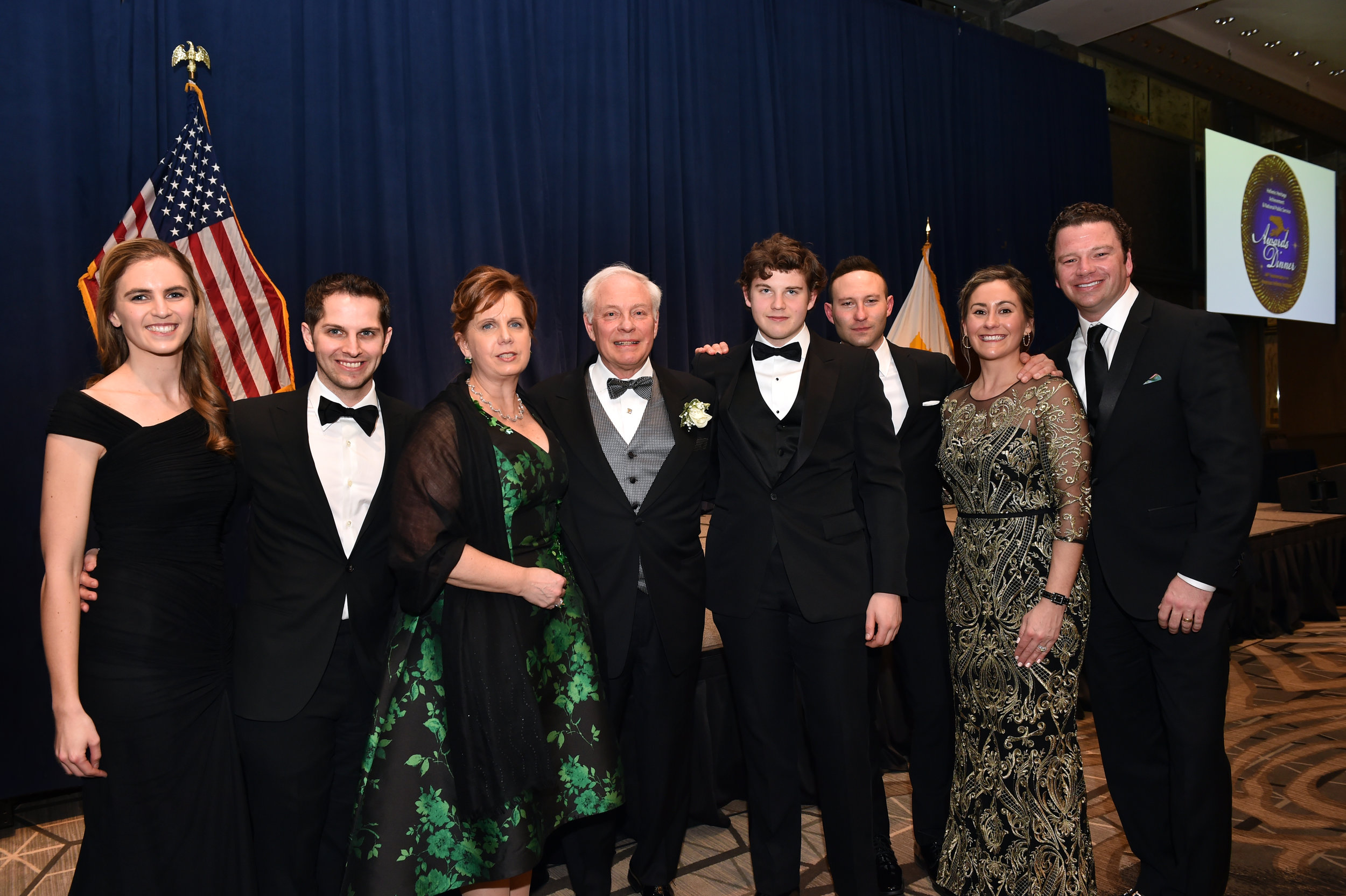 Honoree Nicholas Chimicles with friends and family