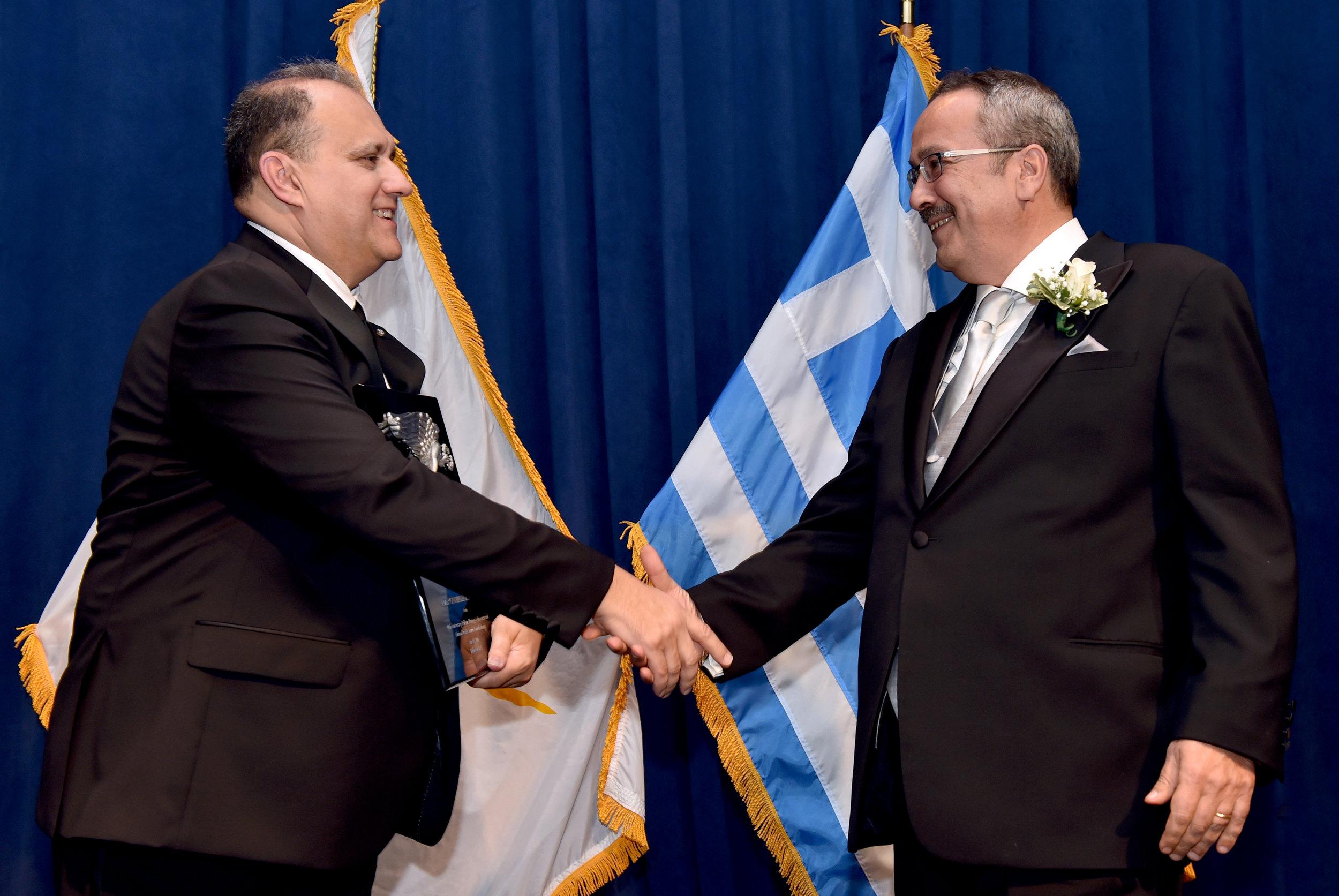Dr. Spiro Spireas and AHI President Nick Larigakis