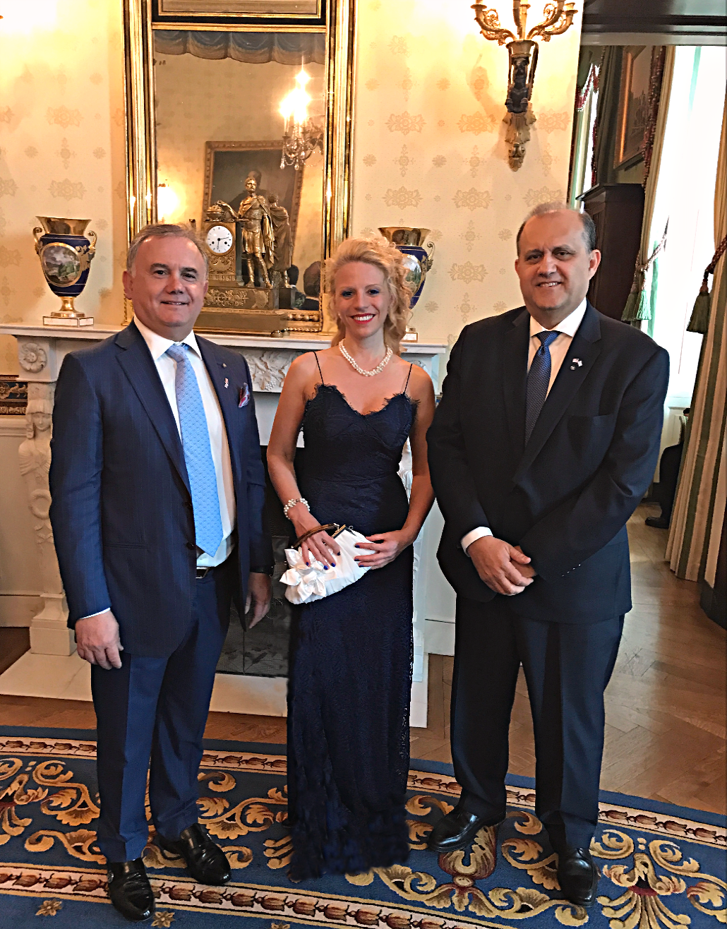 President Larigakis with Board Members Dimitris Halakos and Dr. Athina Balta