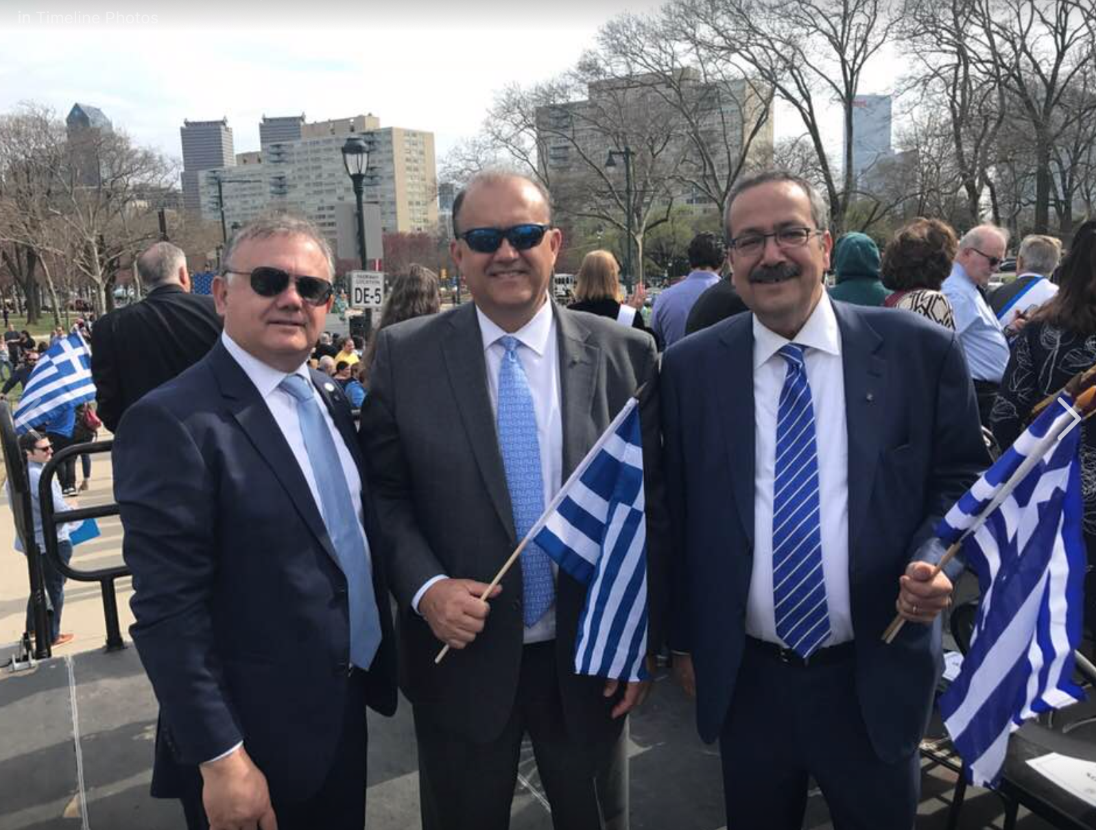 (L-R) AHI Board Member Dimitris Halakos, Nick Larigakis, & AHI Foundation Board Member Spiros Spireas