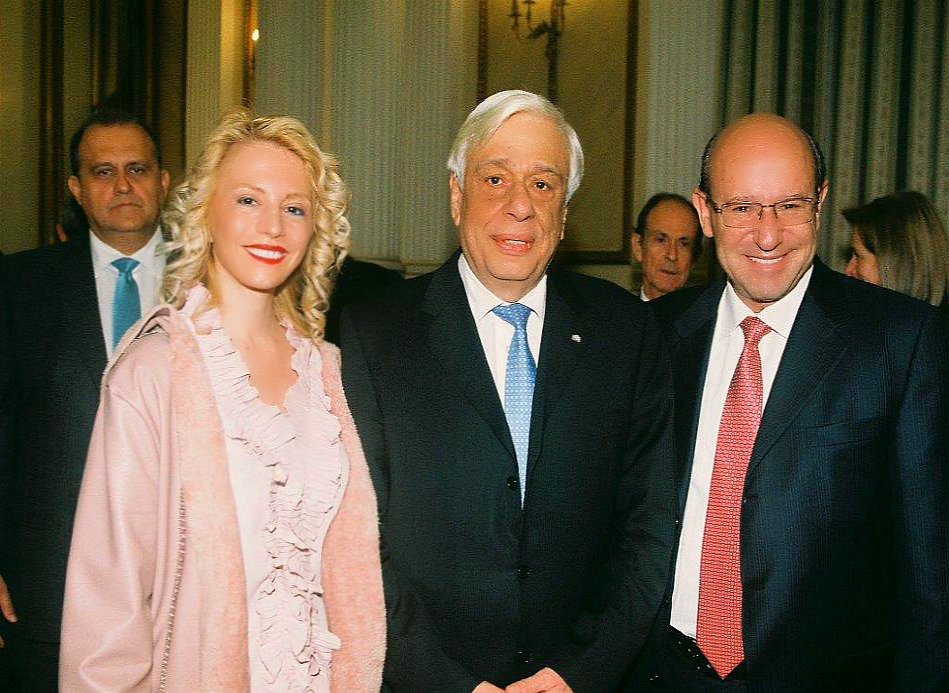 AHI Board Member Athina Balta, President Pavlopoulos, and AHI Foundation President Constantine Galanis.