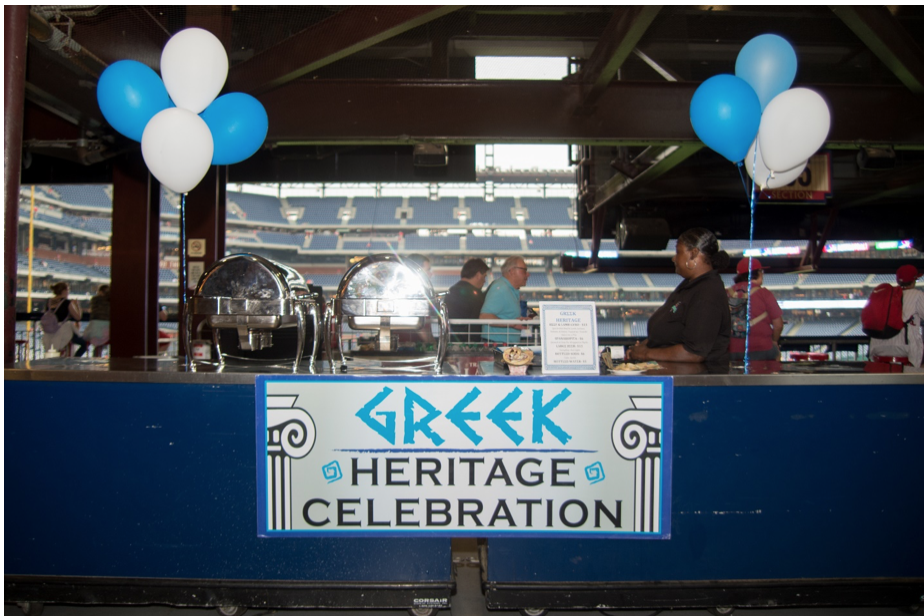 Greek food stand (courtesy of the Philadelphia Phillies)
