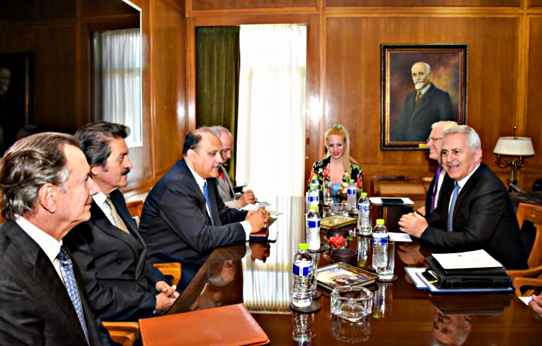 Meeting with Minister of Defense Evangelos Apostolakis