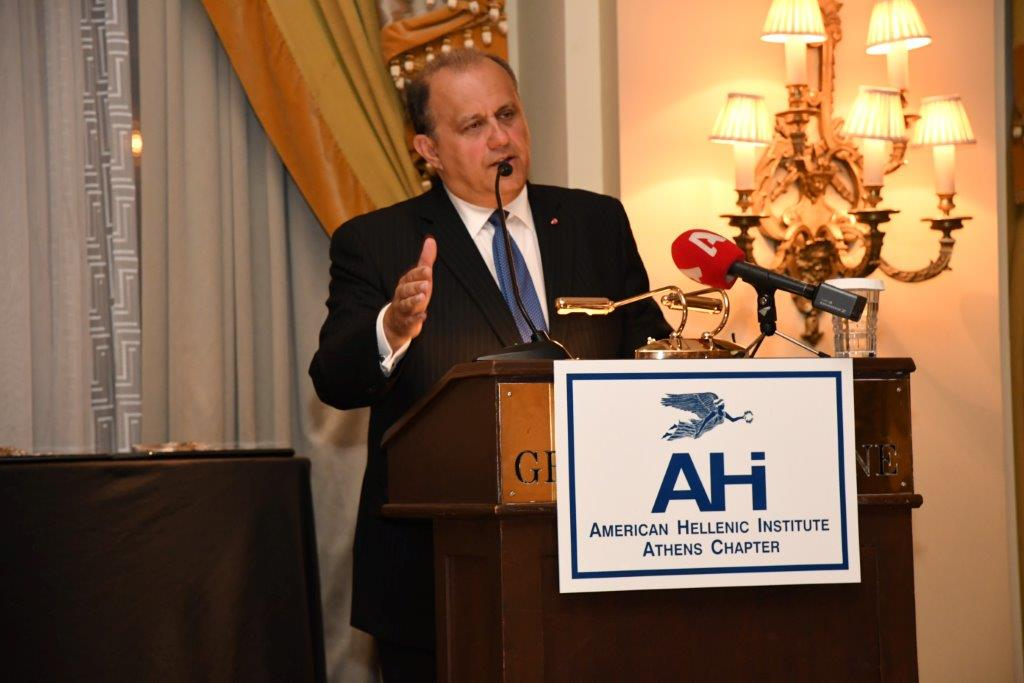 President Larigakis during his Speech at the 15th AHI Athens Annual Dinner