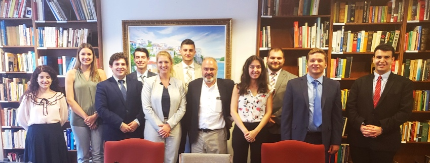 AHIF Students With Paul Glastris, Editor of the  Washington Monthly , who provided a briefing