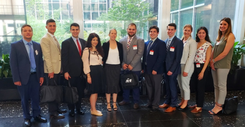 AHIF students at the Department of State with Emily Stoll (C), Greek Desk Officer