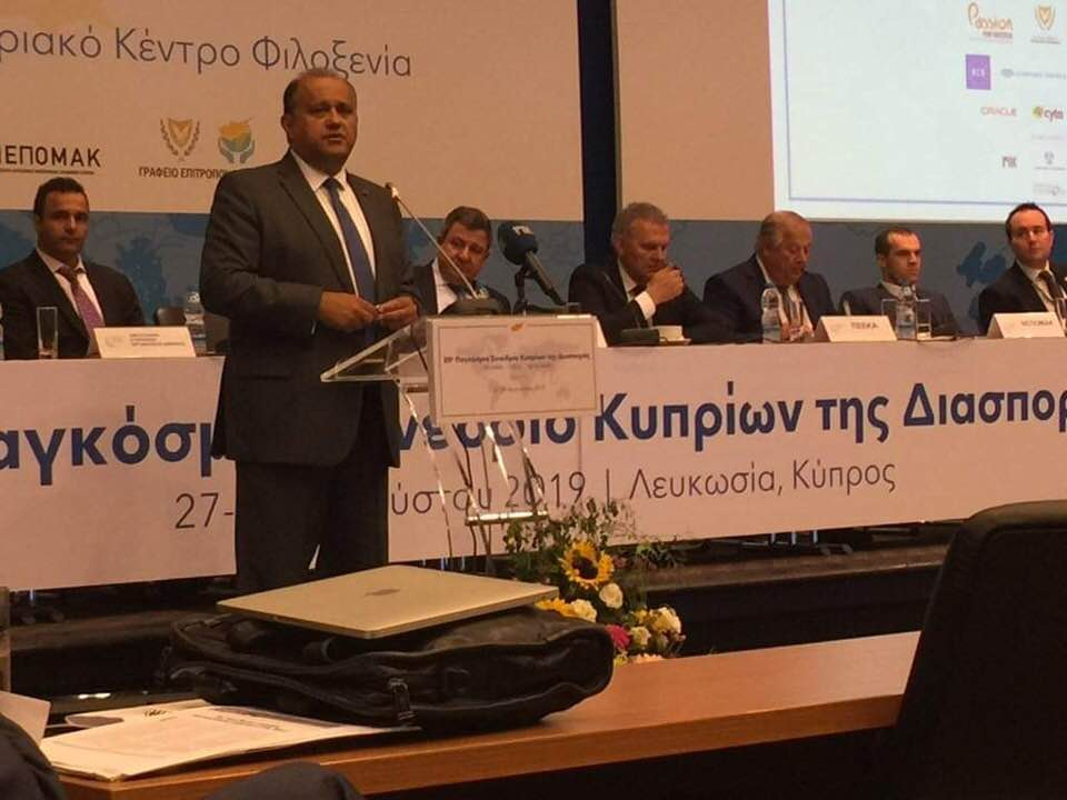 AHI President Larigakis Addressing The Delegates At The Annual World Conference of Overseas Cypriots In Nicosia, Cyprus